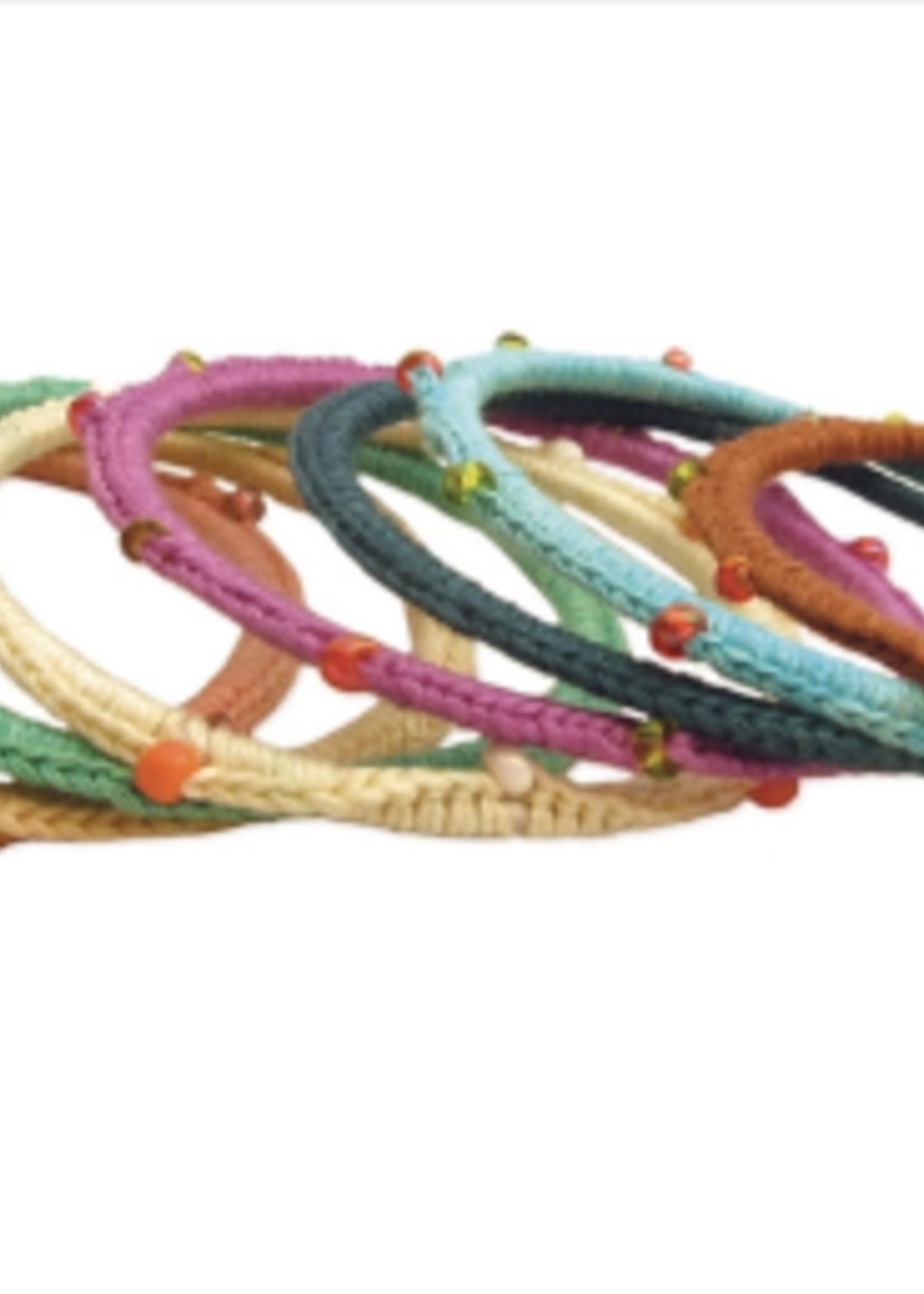 ZAD Beaded Knit Bangle Set