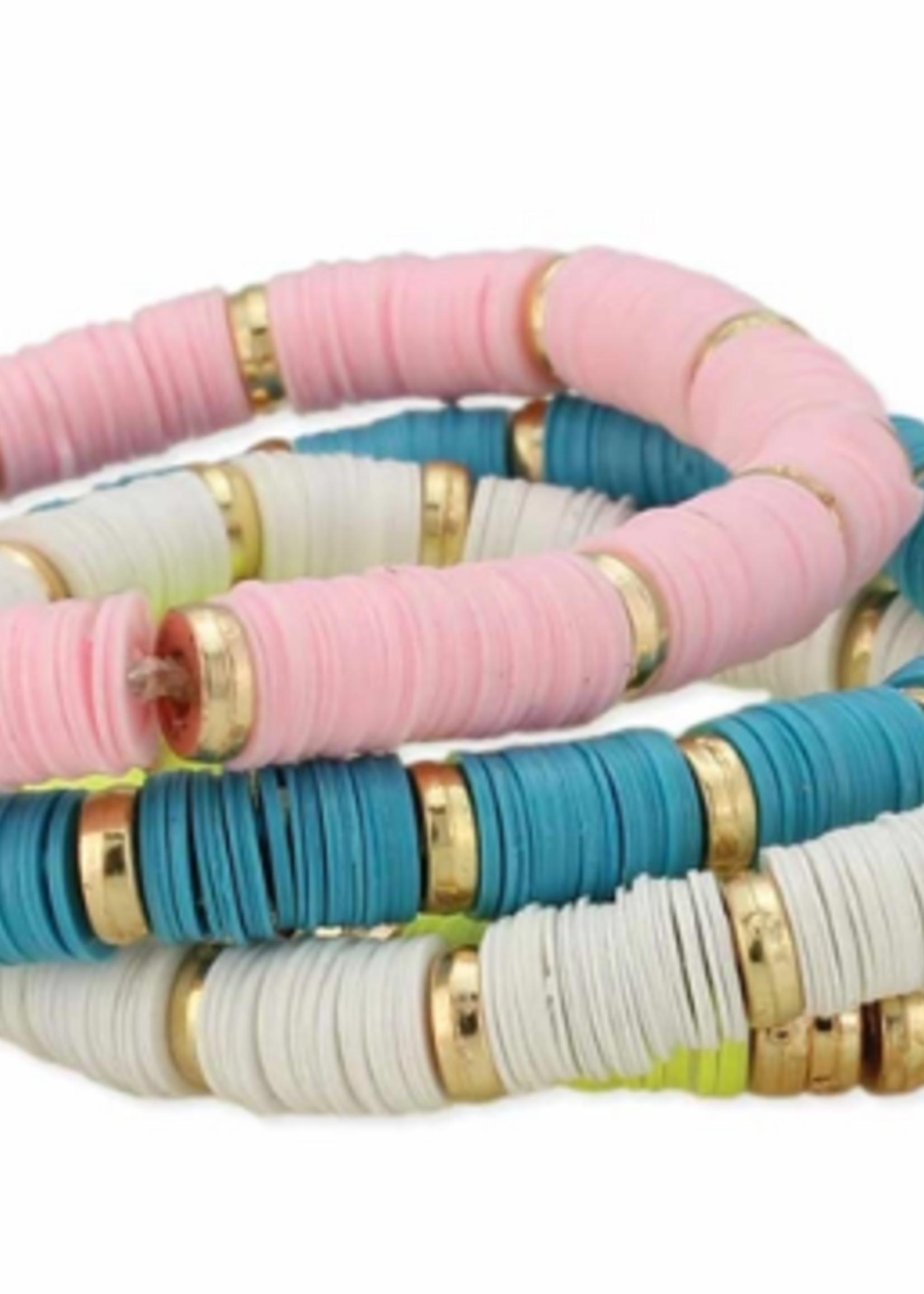ZAD Spring Blooms Heishi Bracelet Set