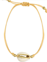 ZAD Cowry Shell Cord Pull Anklet