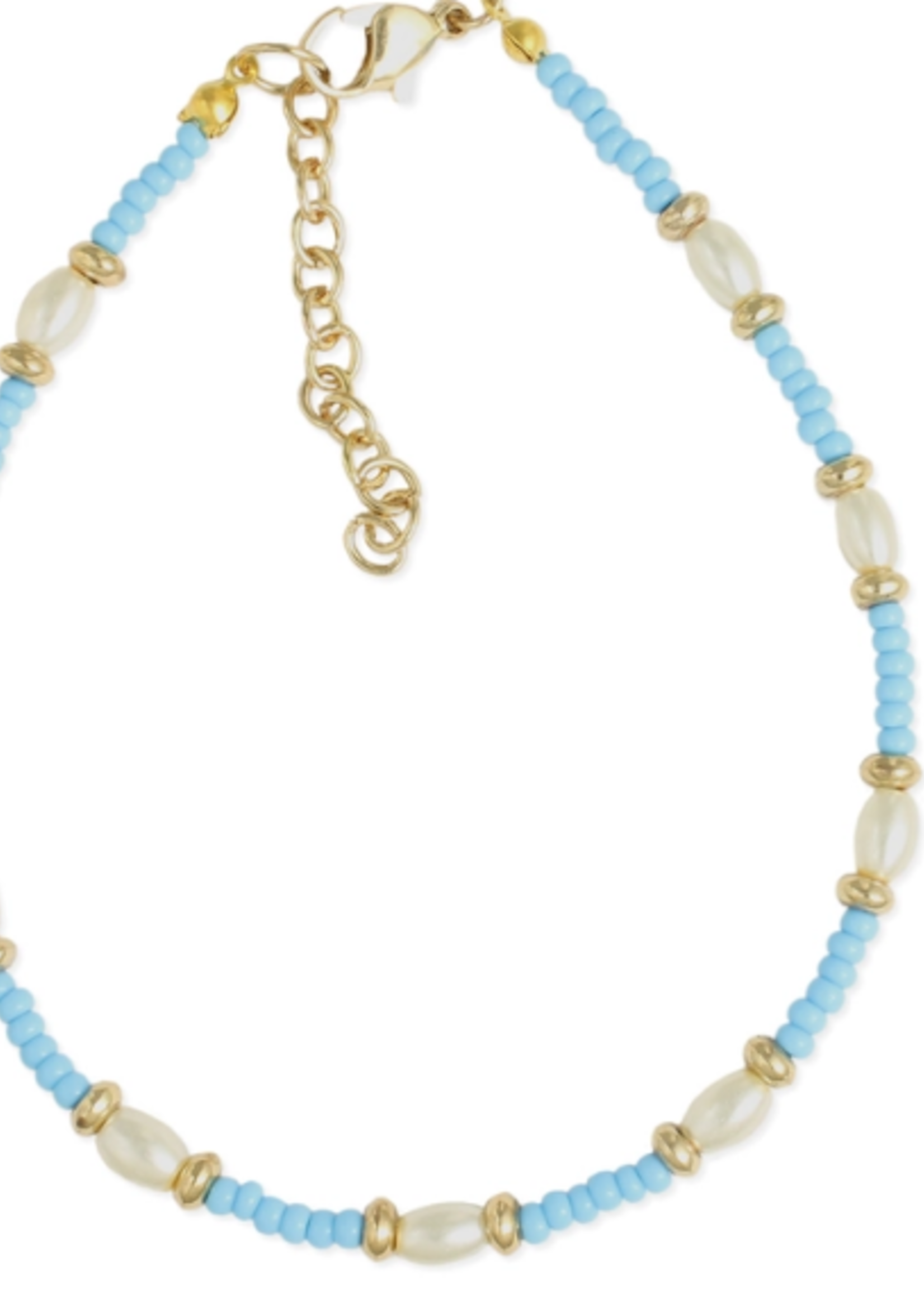 ZAD Beaches Pearl Turquoise Anklet