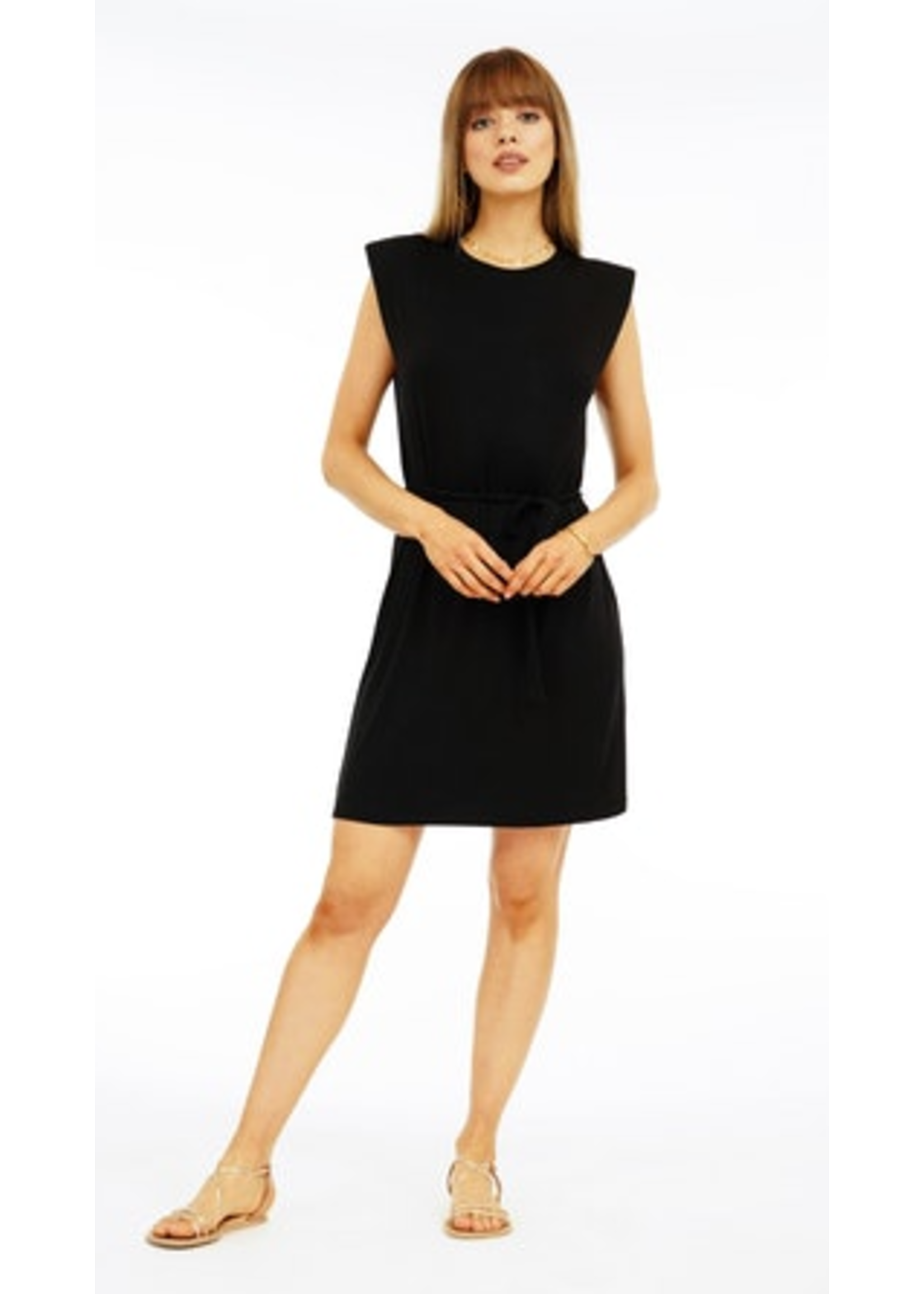 Veronica M Black Cap Dress
