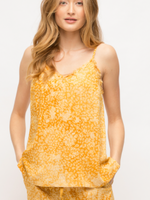 Mystree Yellow Tie Dye Tank