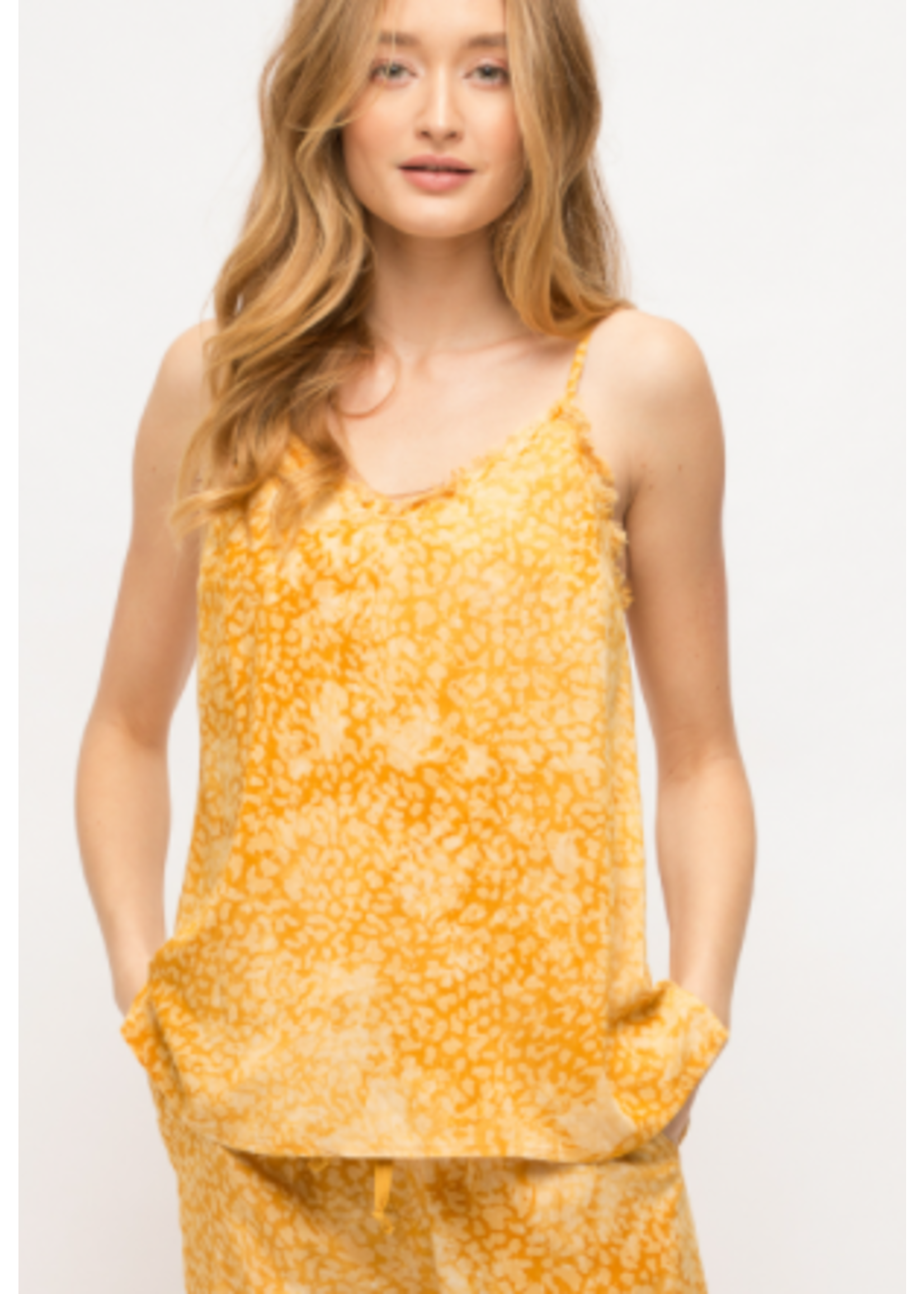 Mystree Yellow Tie Dye Tank