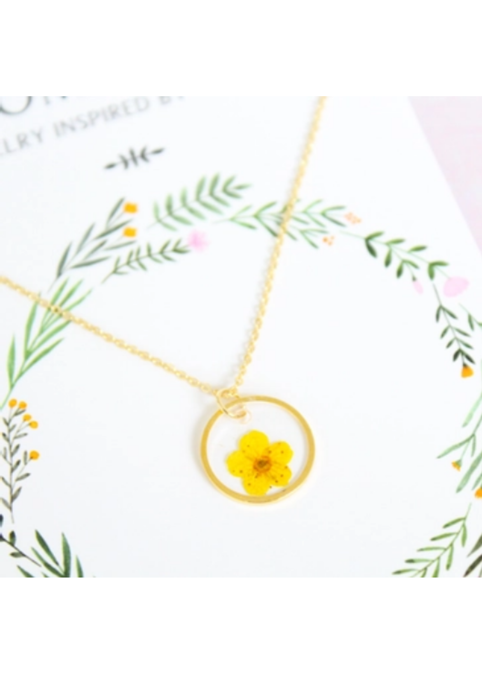 Bloom & Press Small Flower Necklace