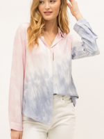 Mystree Tie Dye Button Down