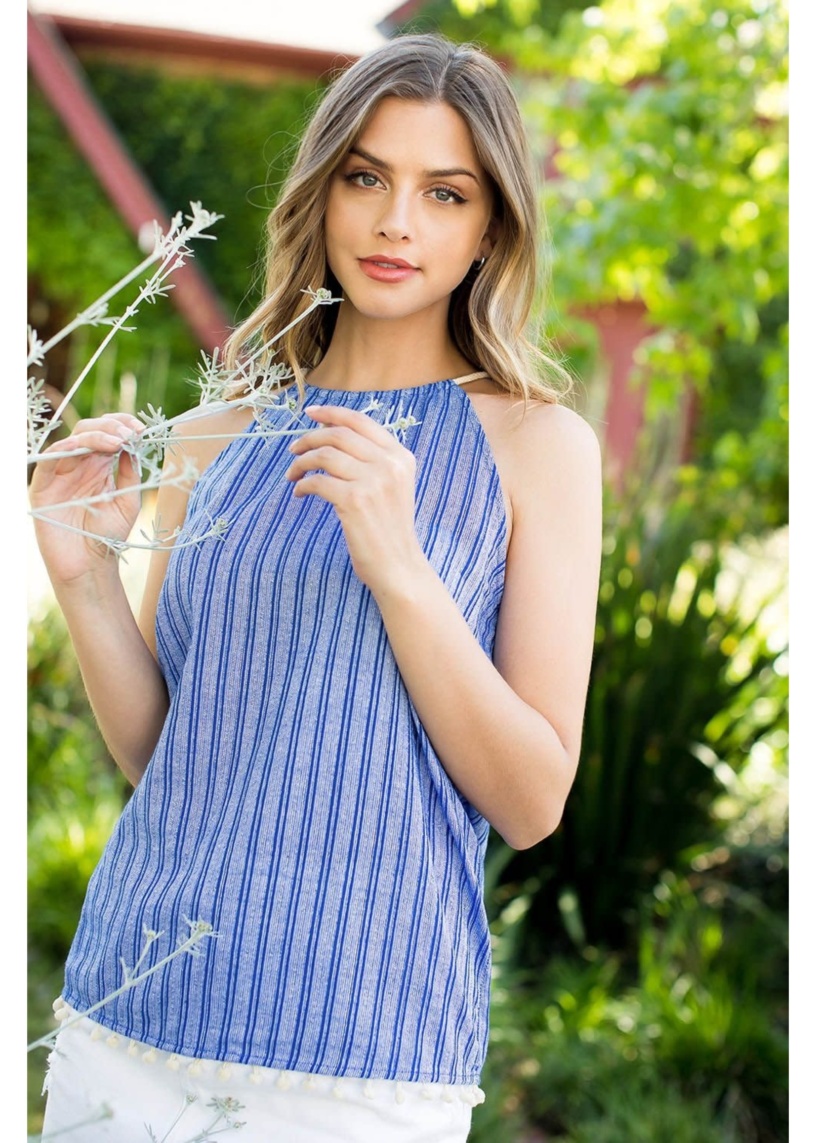 THML Striped Halter Top