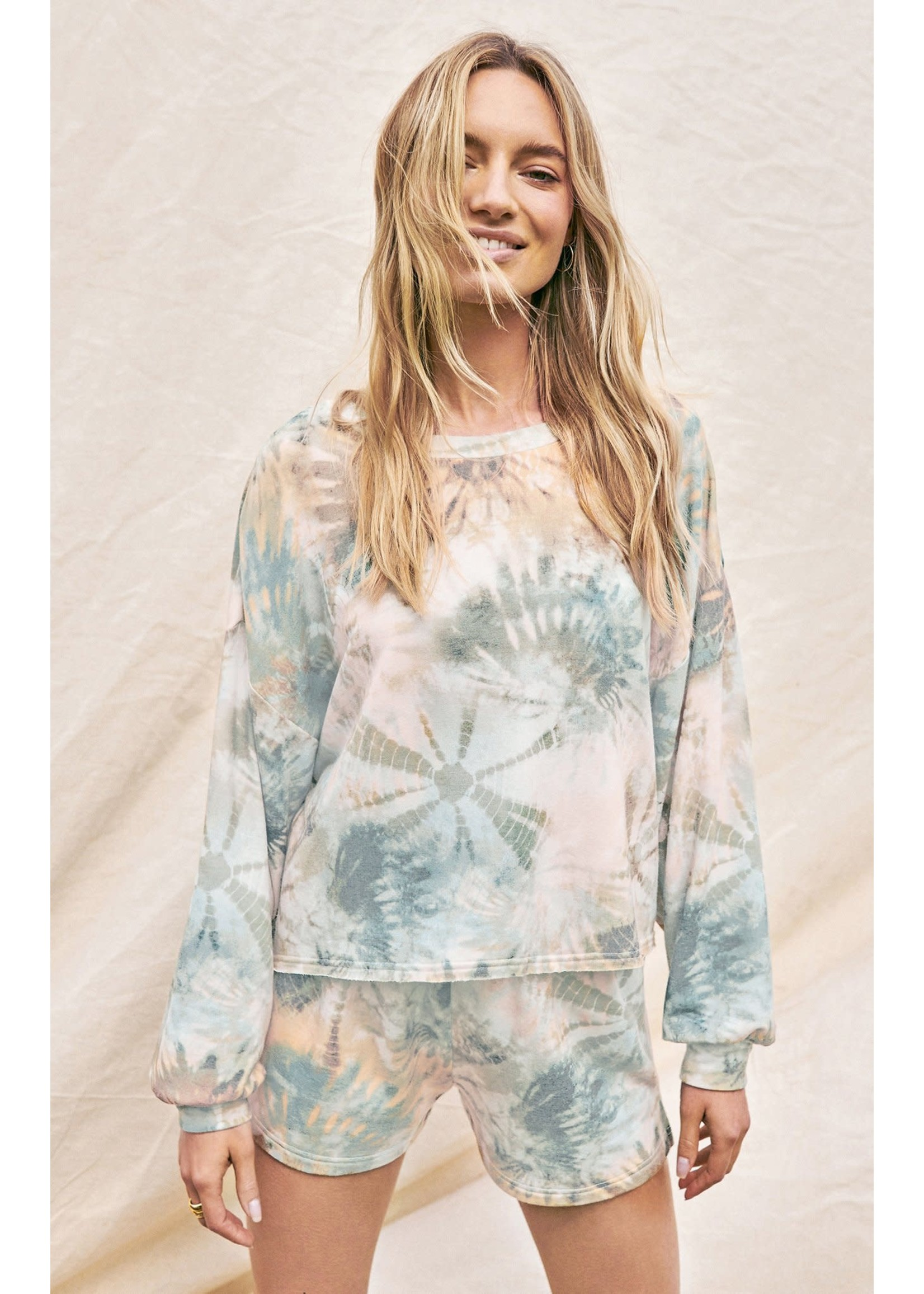 Z Supply Aqua Sweatshirt