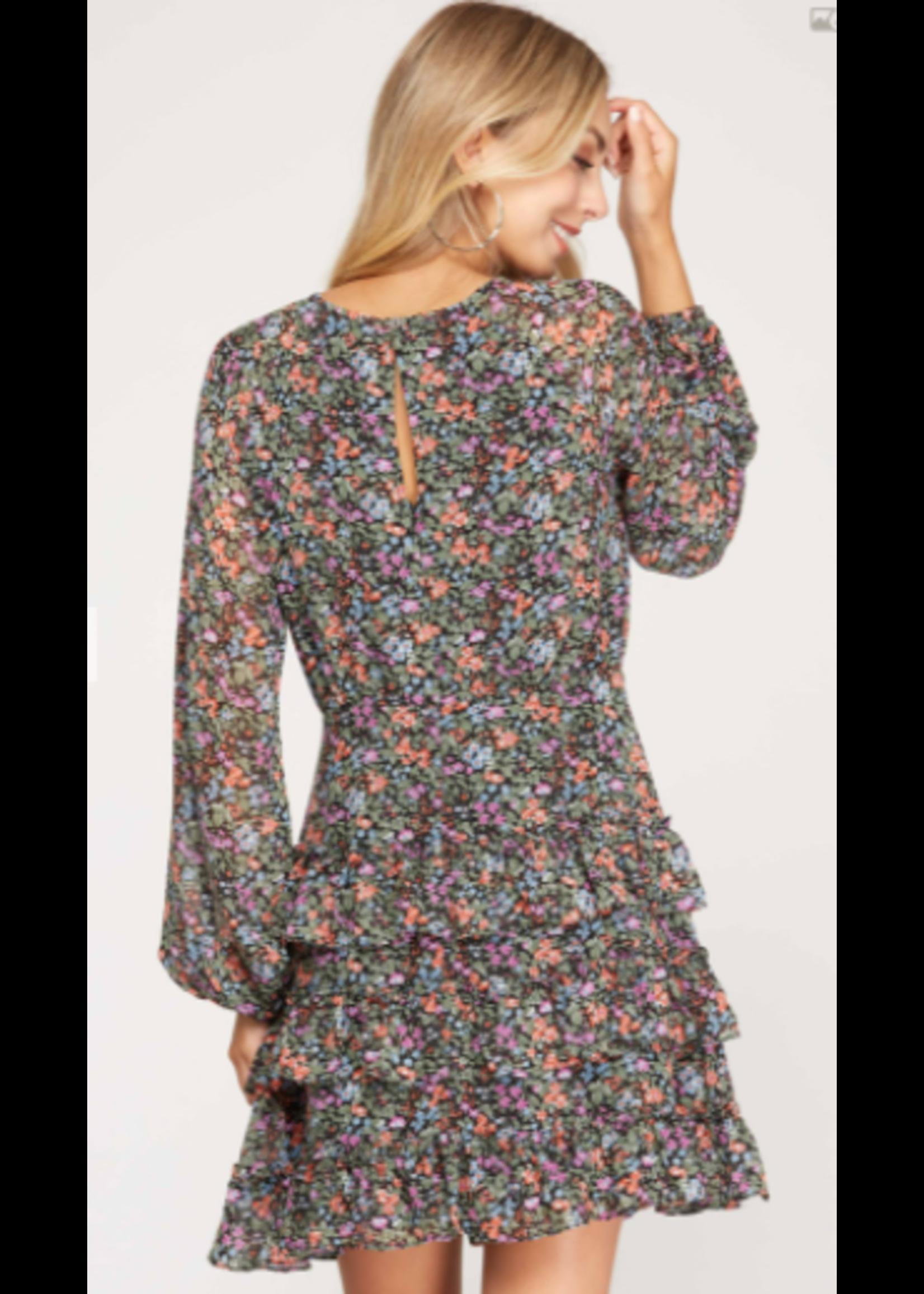 She & Sky Raglan Dress
