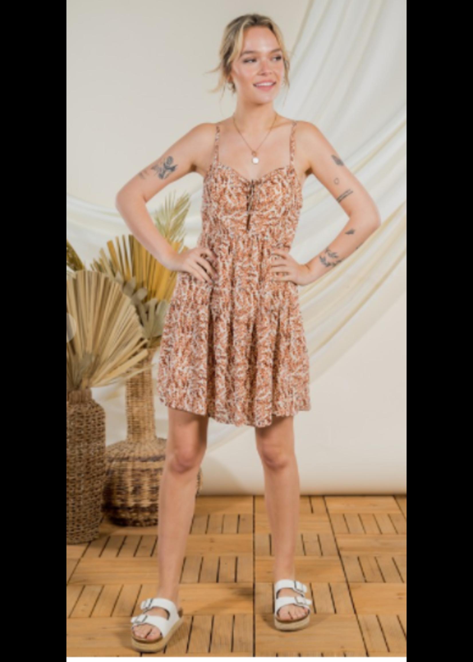 Very J Lace Up Tier Dress