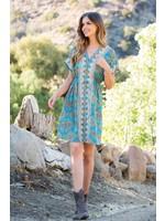 THML Blue Print Dress
