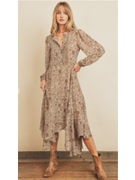 Dress Forum DF Boho Handkerchief Midi Dress
