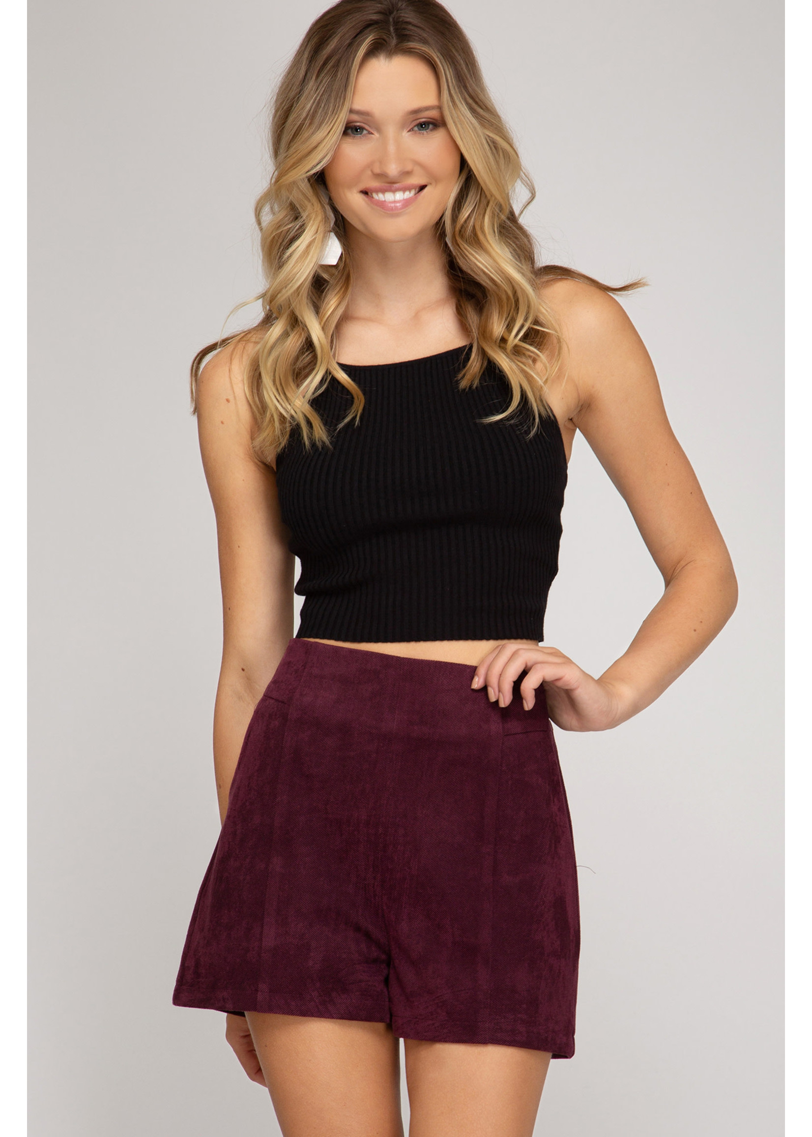 She & Sky Plum Shorts