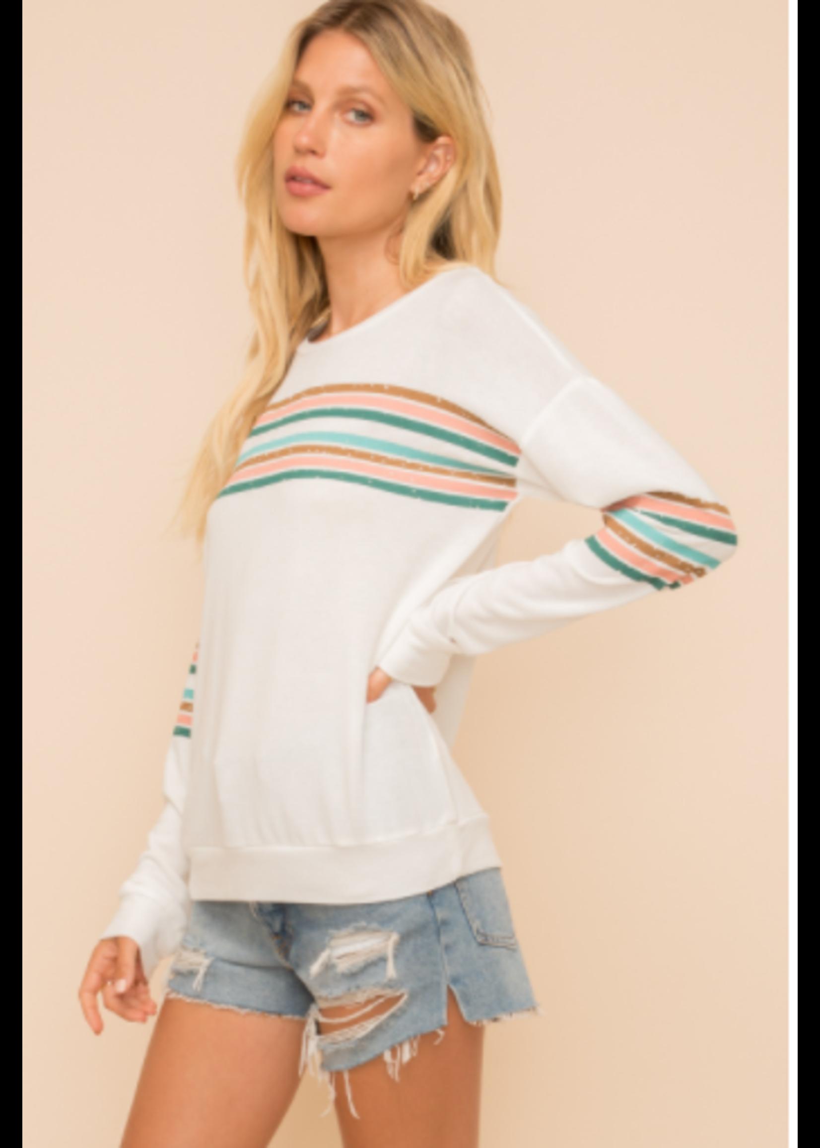 Hem & Thread Multi Stripe Jersey Top