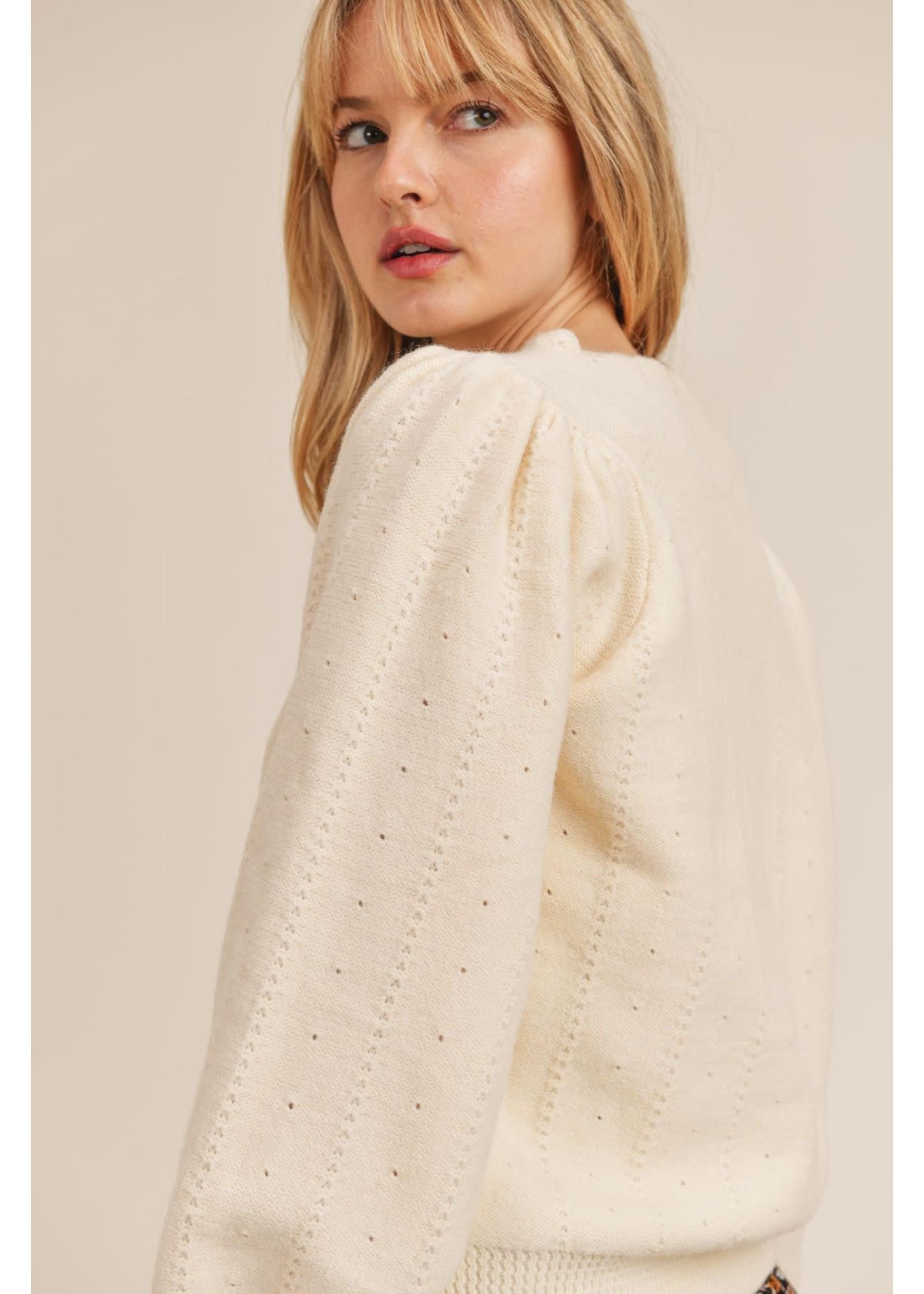 Sadie Sage White Lies Sweater