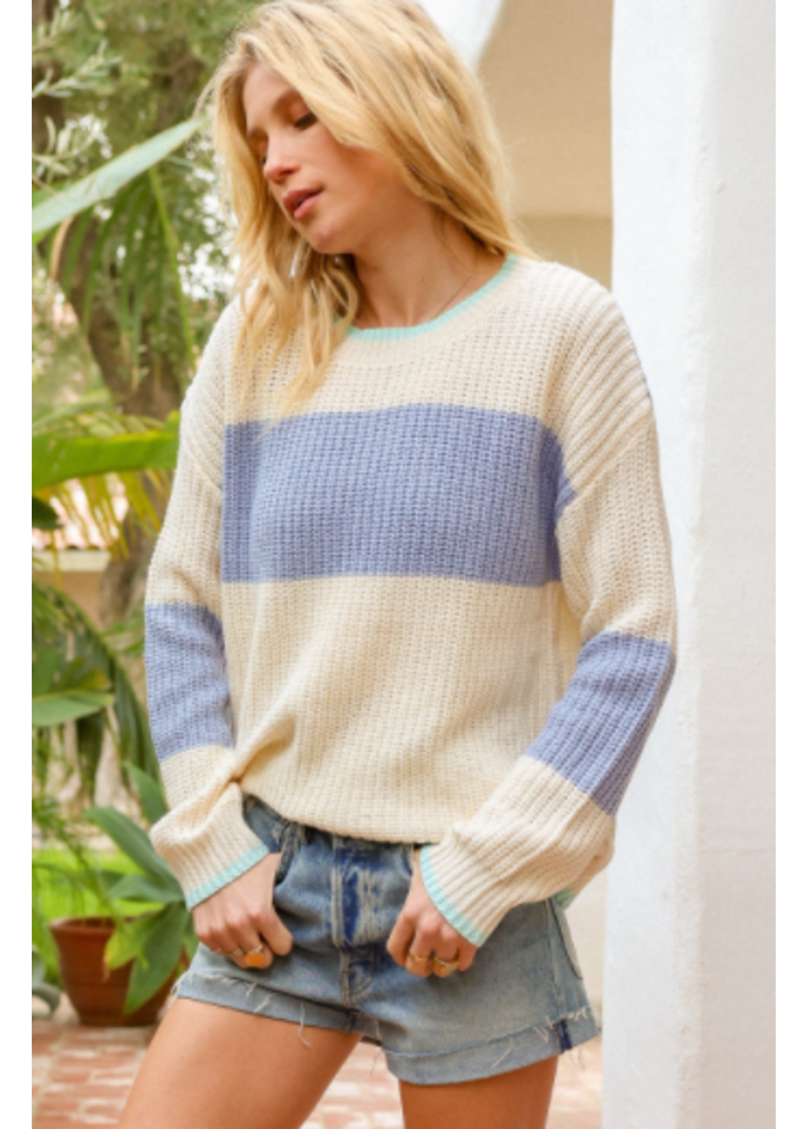 Hem & Thread Colorblock Sweater