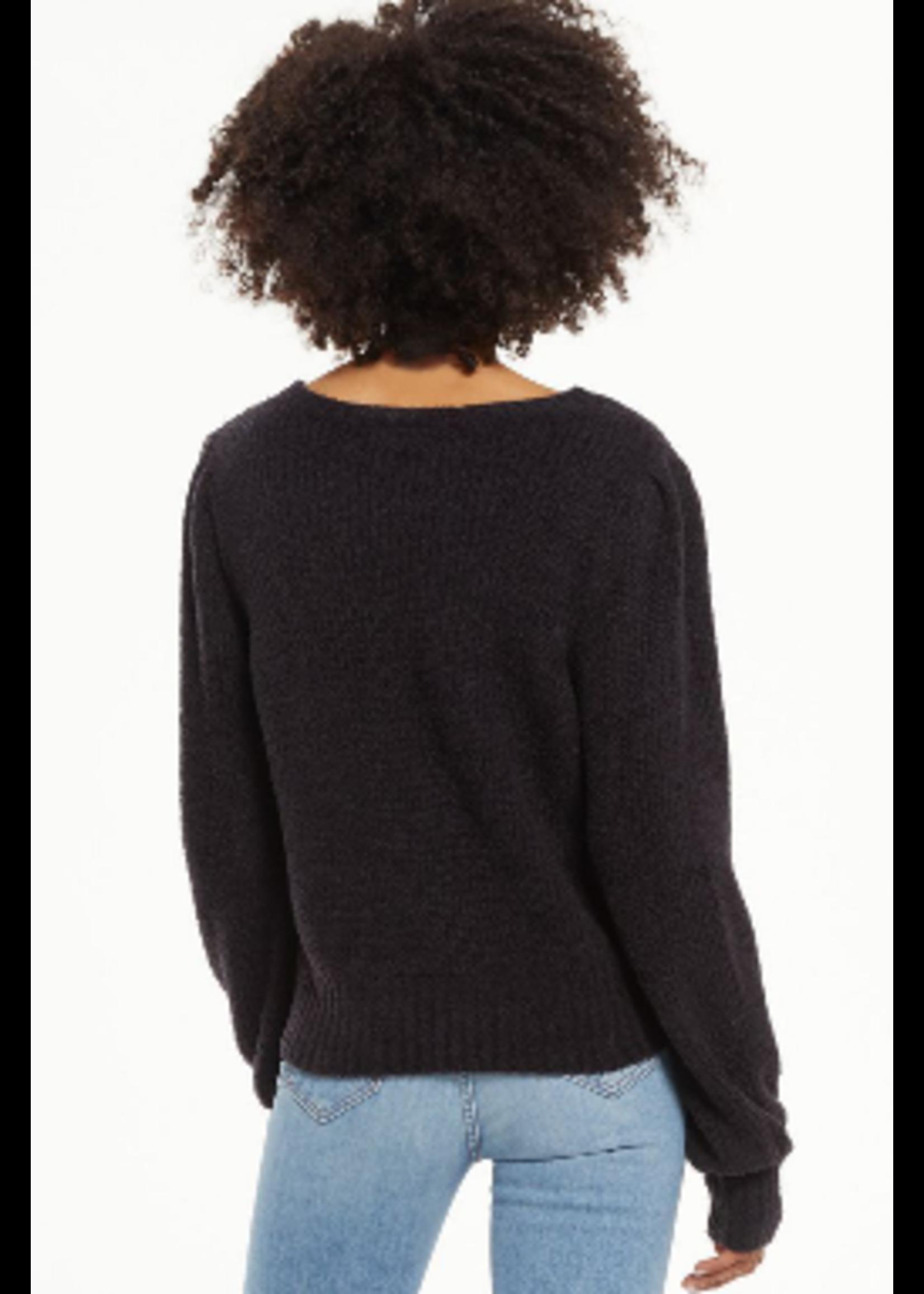 Z Supply Bailey Black  Sweater