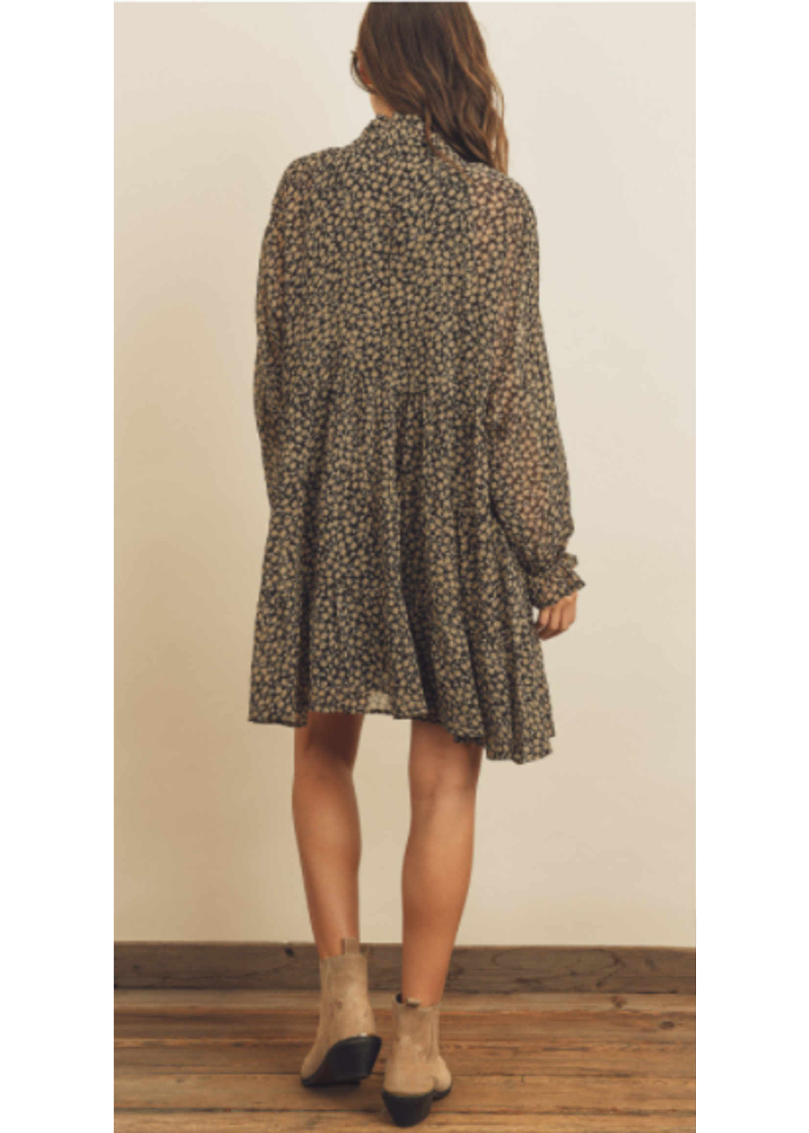 Dress Forum Black Ruffle Dress