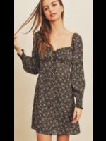 Dress Forum Ditsy Black Dress