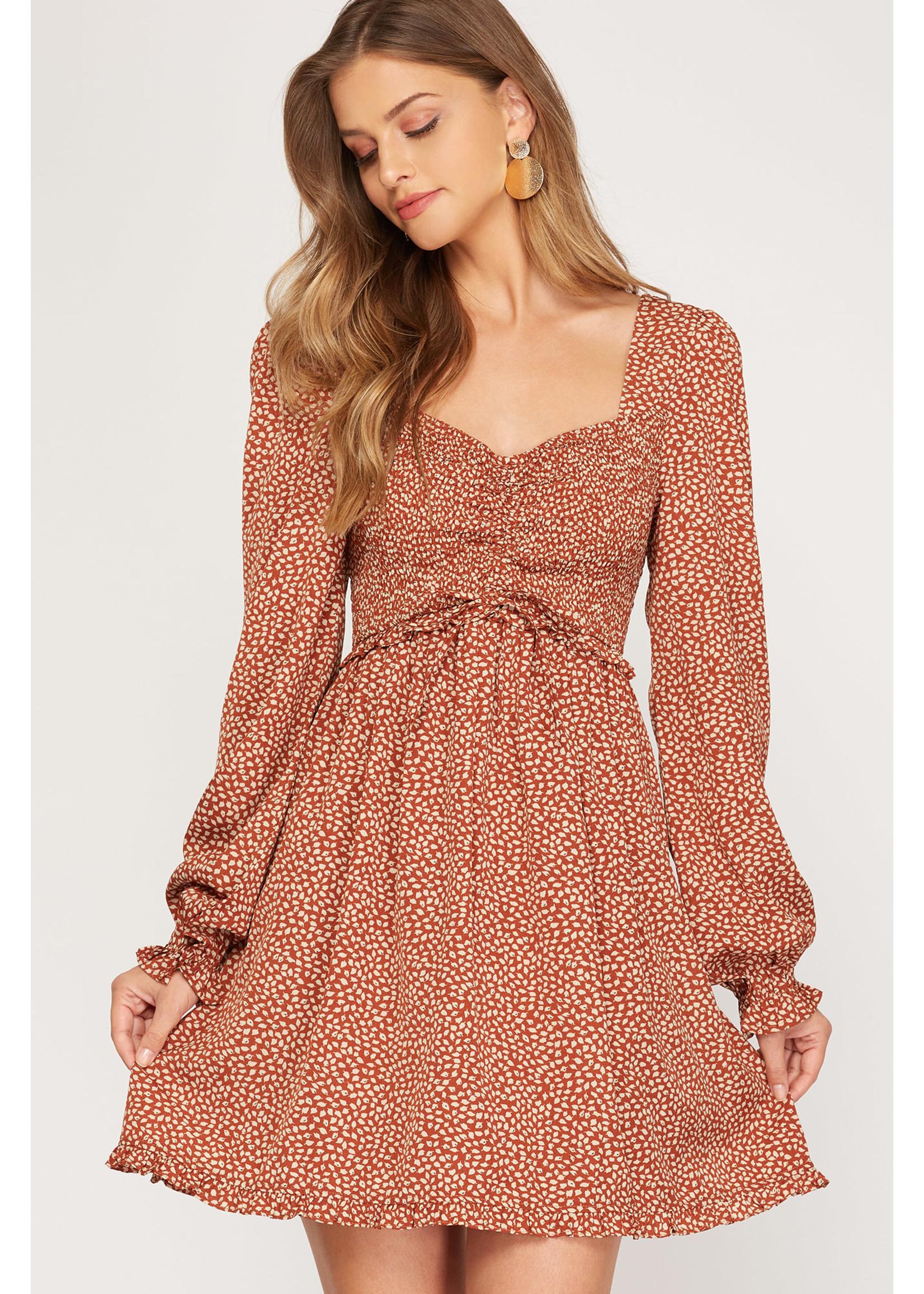 She & Sky Puff Dress