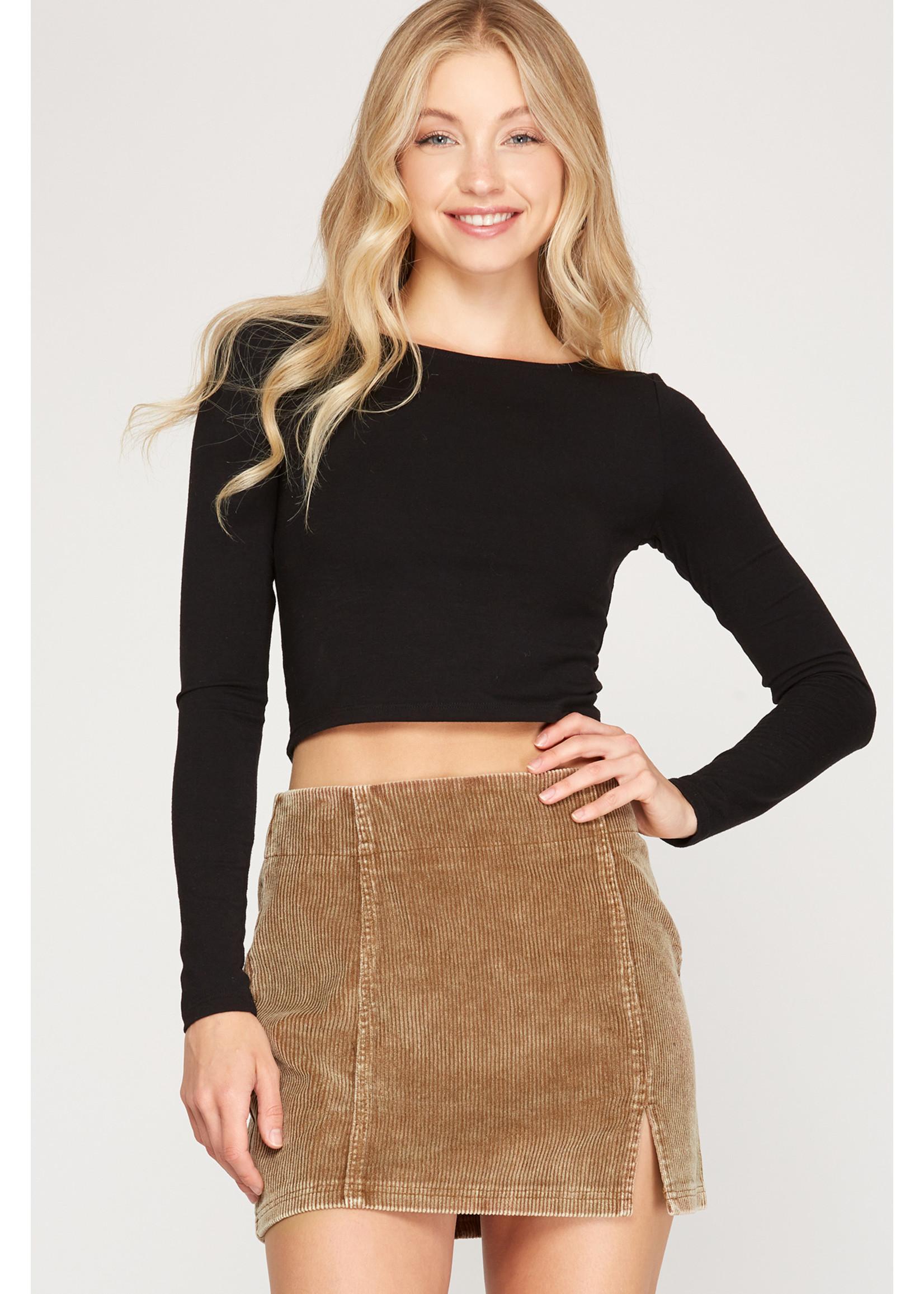 She & Sky Corduroy Skirt