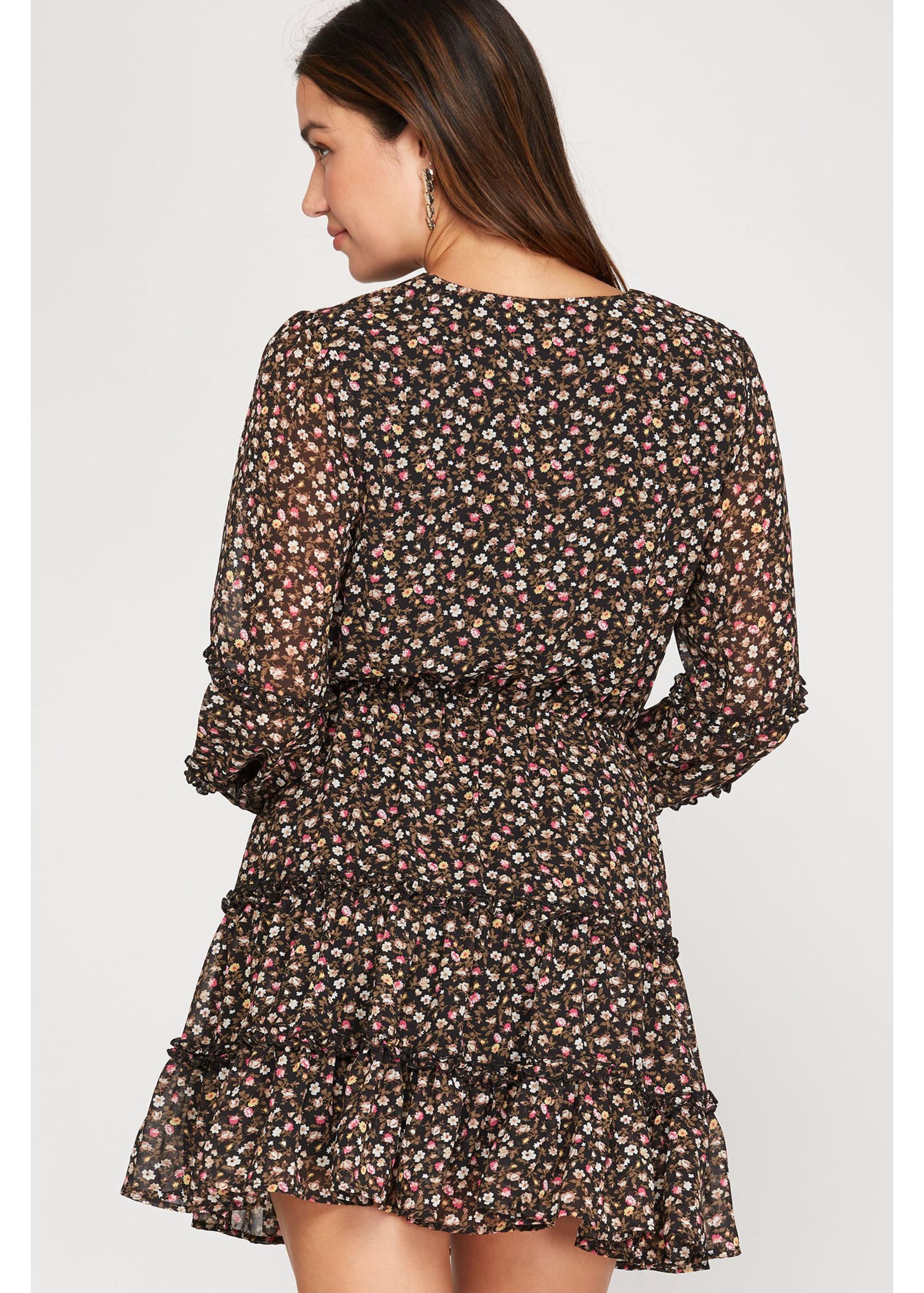 She & Sky Ruffled Dress