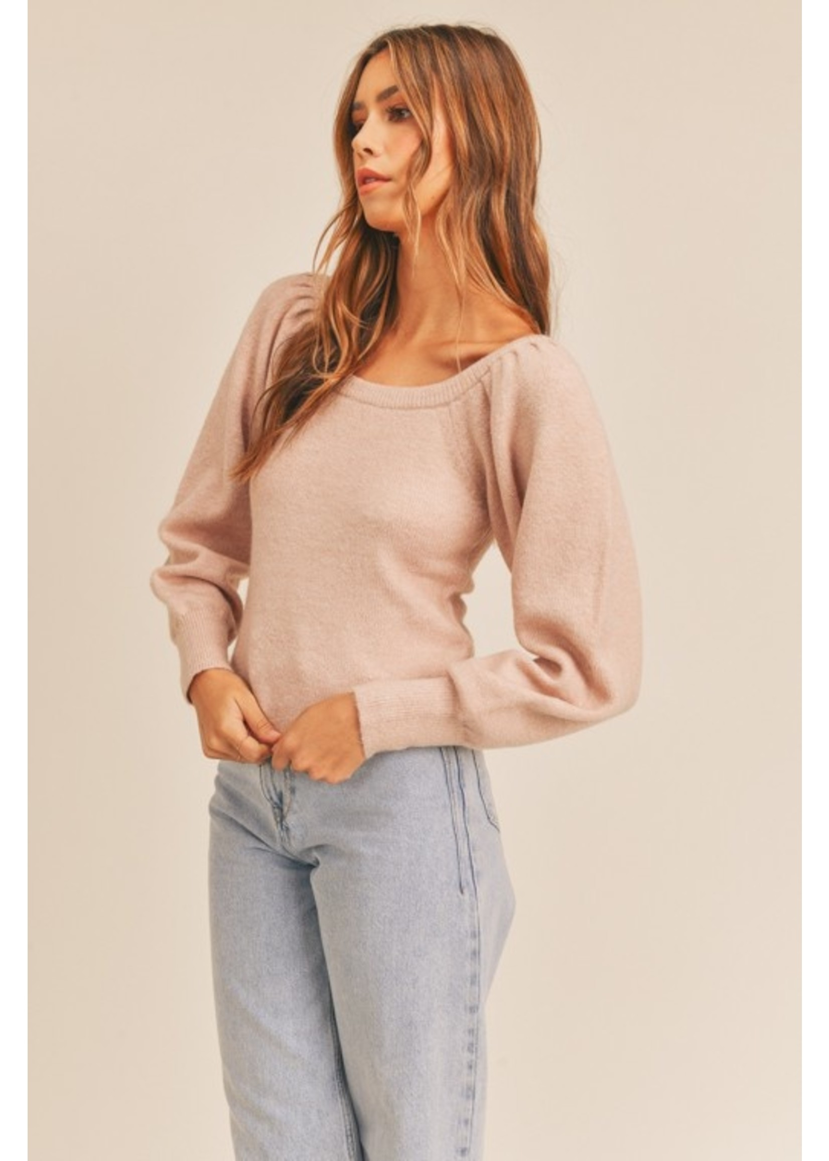 Lush Ruched Sweater
