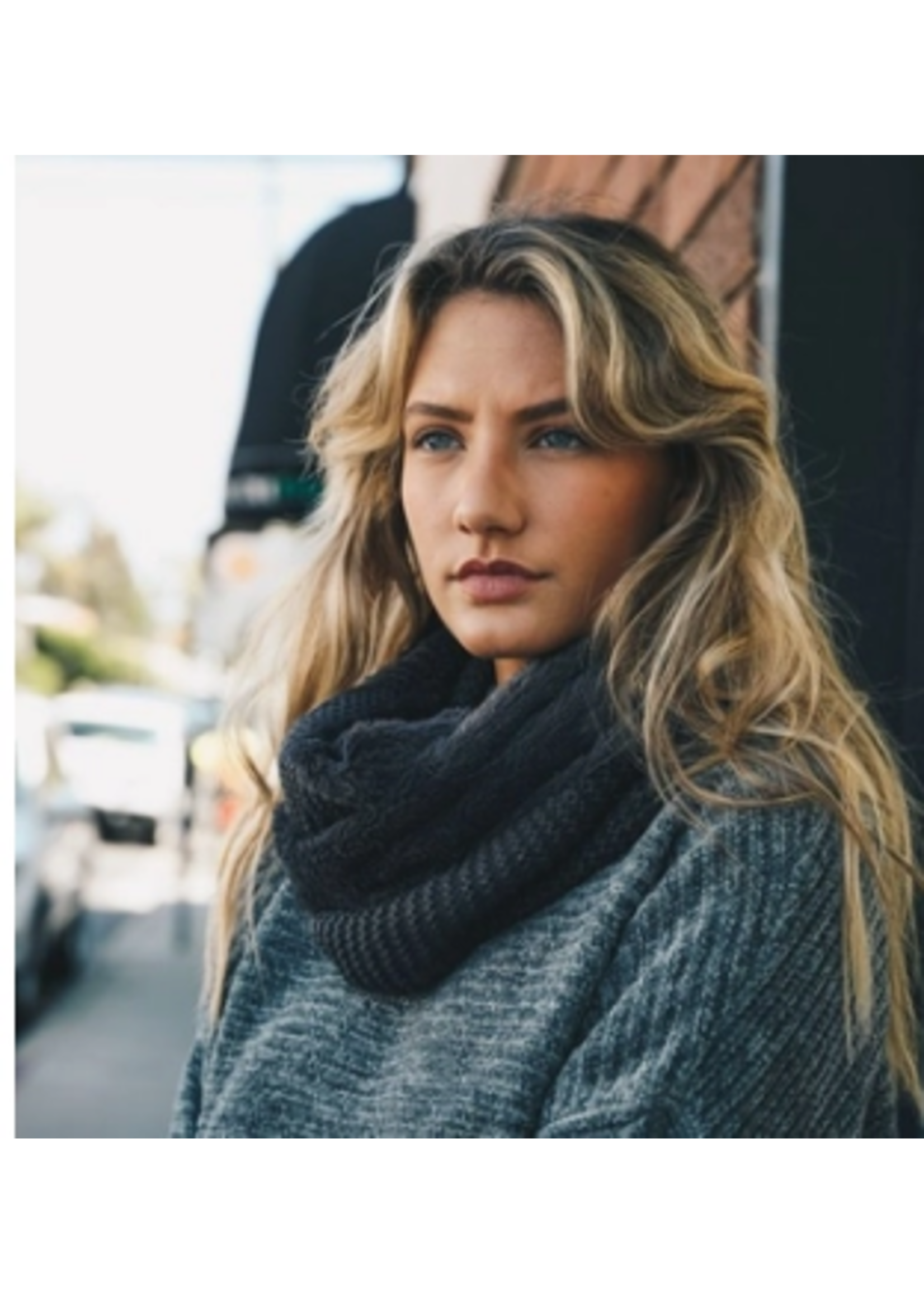 Leto Accessories Sherpa Infinity Scarf