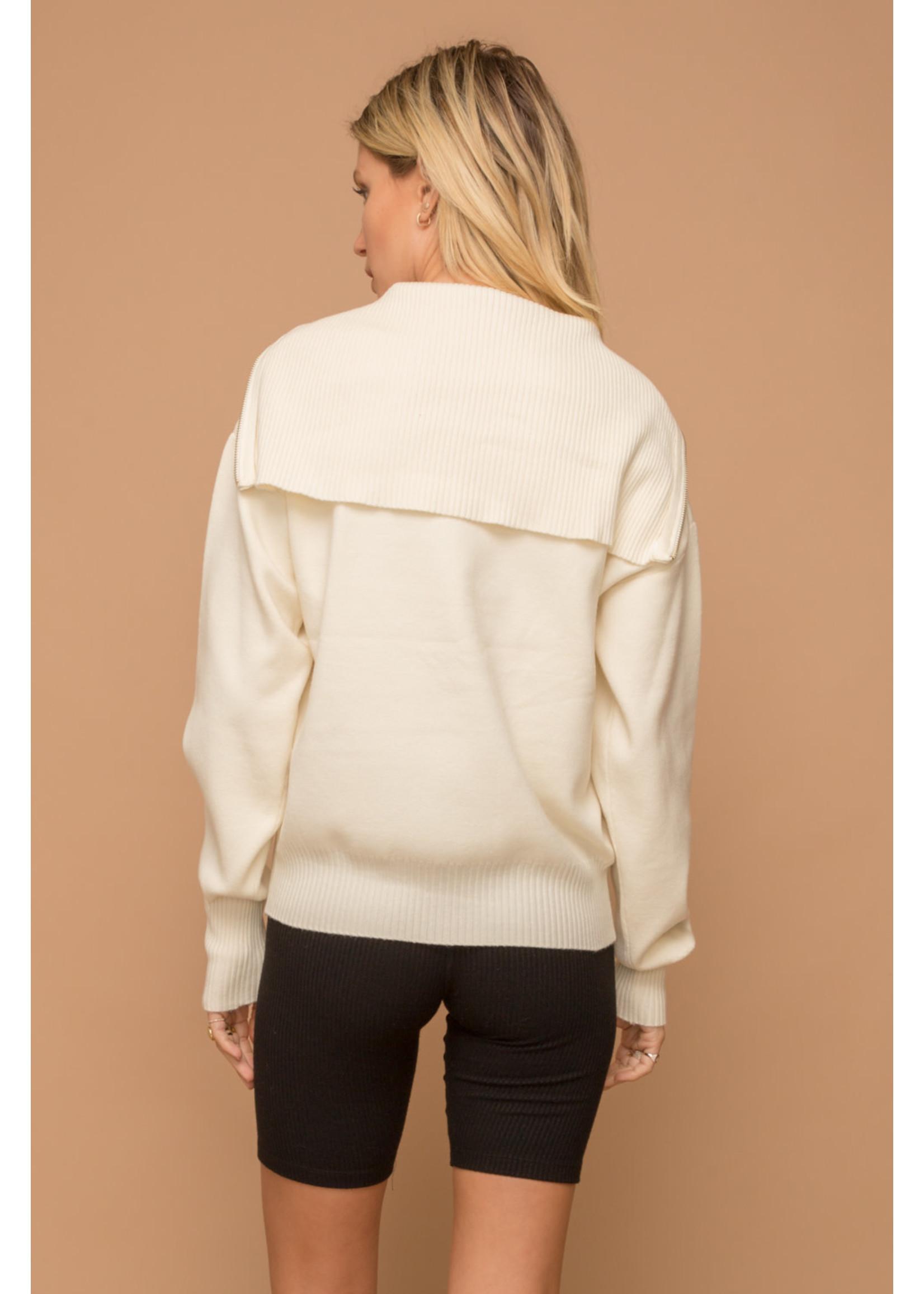 Hem & Thread High Collar Sweater