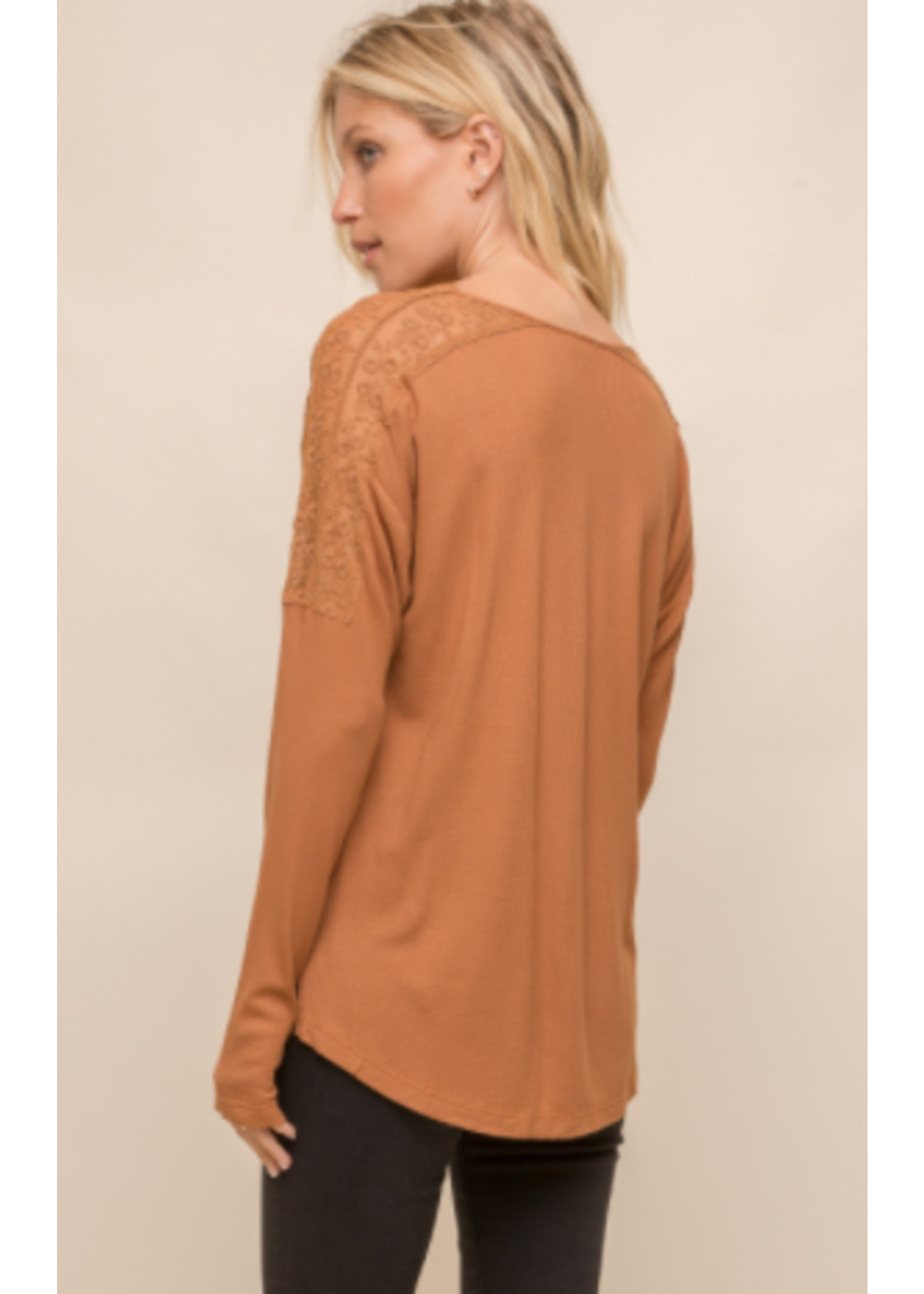 Hem & Thread Caramel Sweater