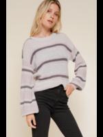 Hem & Thread Lavender Stripe Top