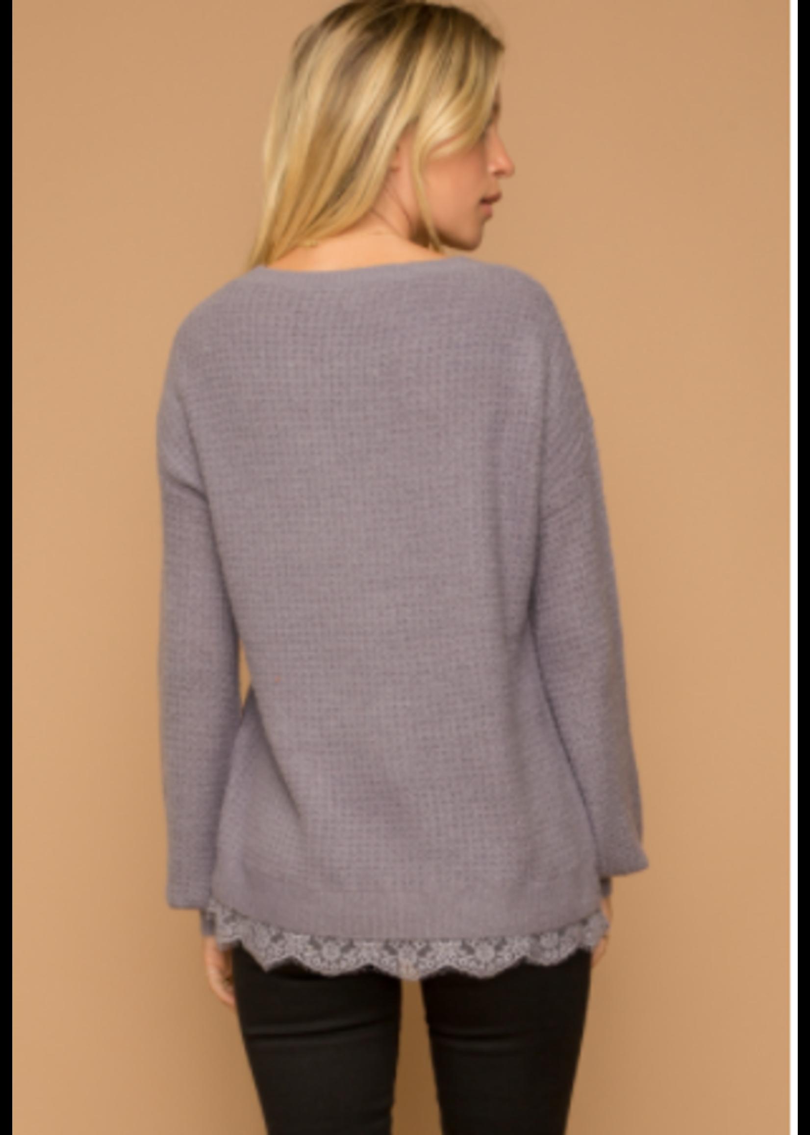 Hem & Thread Dusty Purple Top