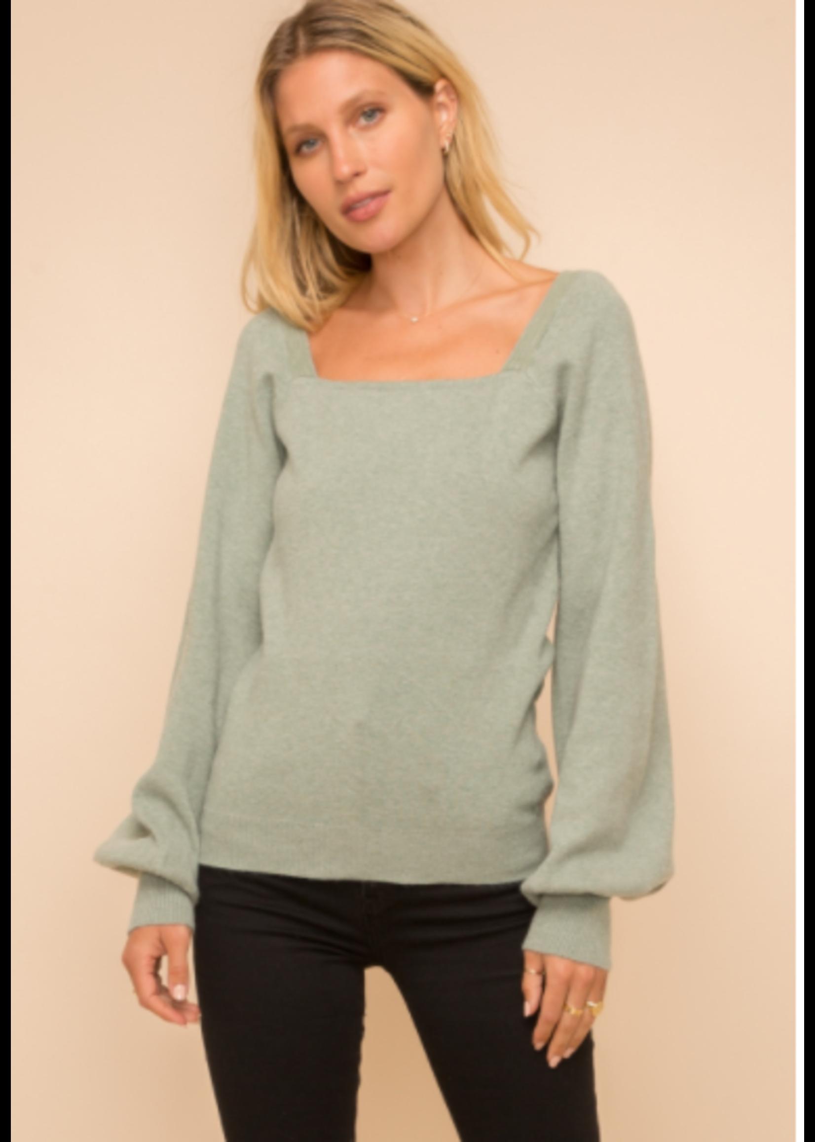 Hem & Thread Sage Balloon Sweater