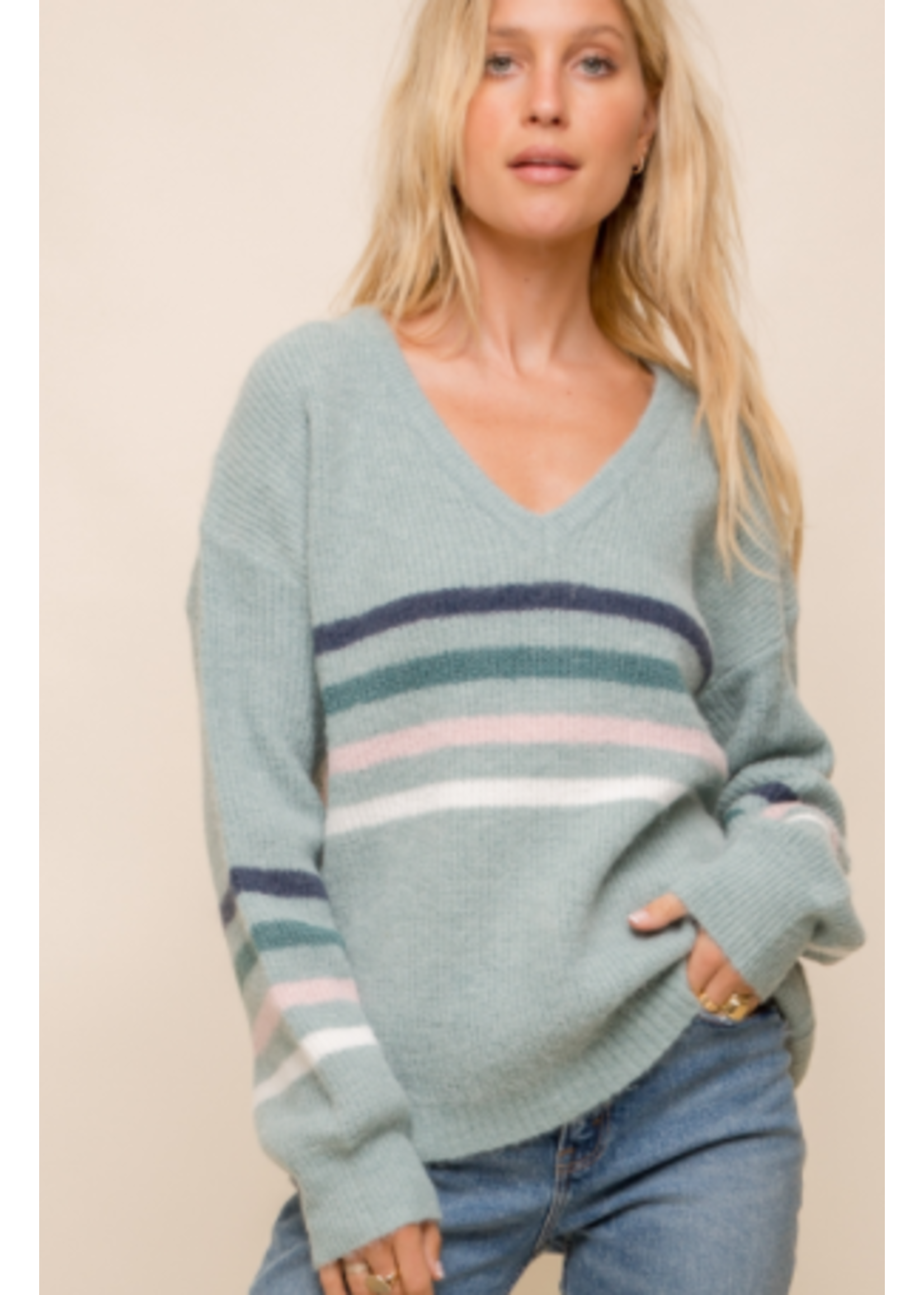 Hem & Thread Sage Sweater
