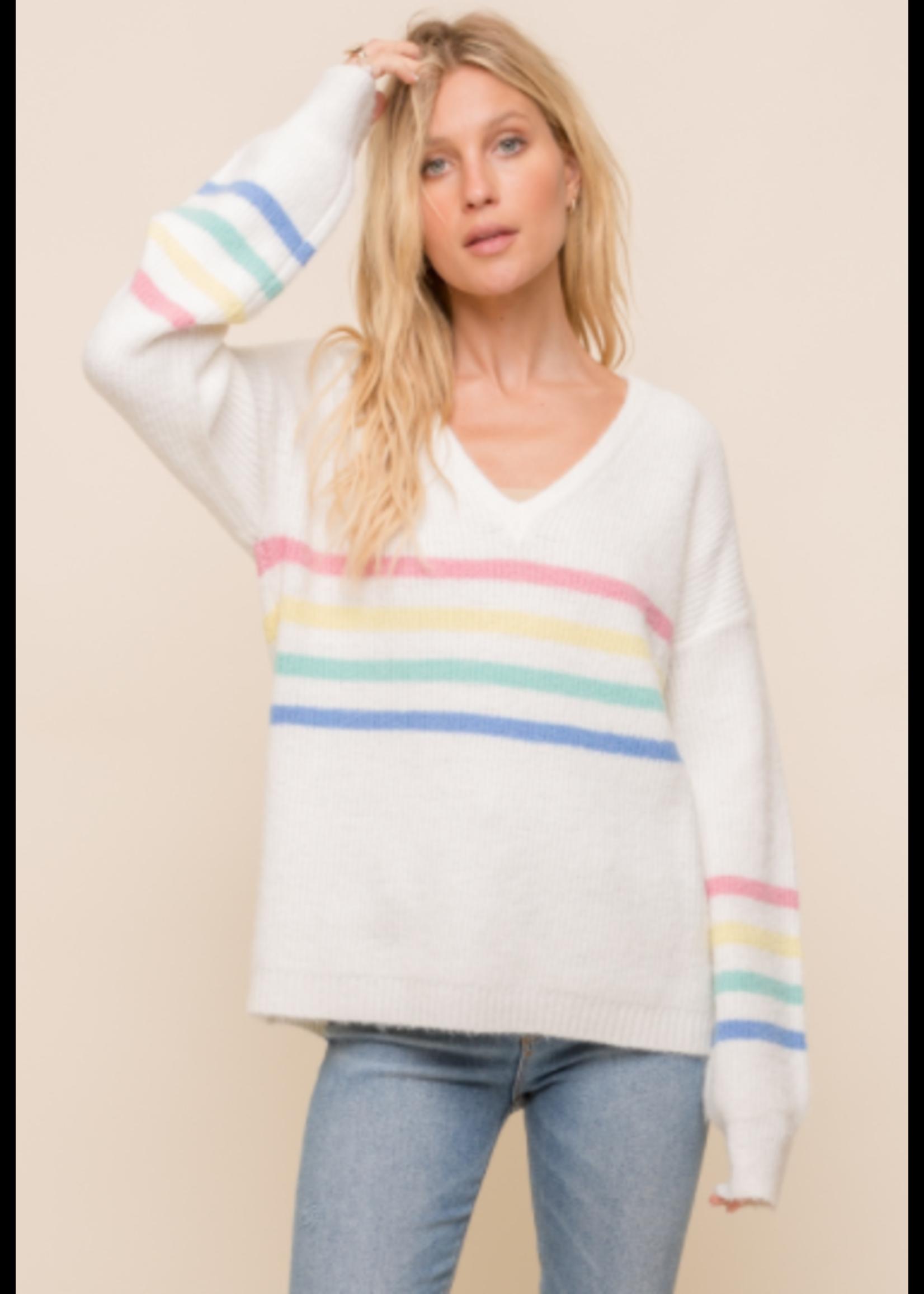 Hem & Thread Rainbow Sweater