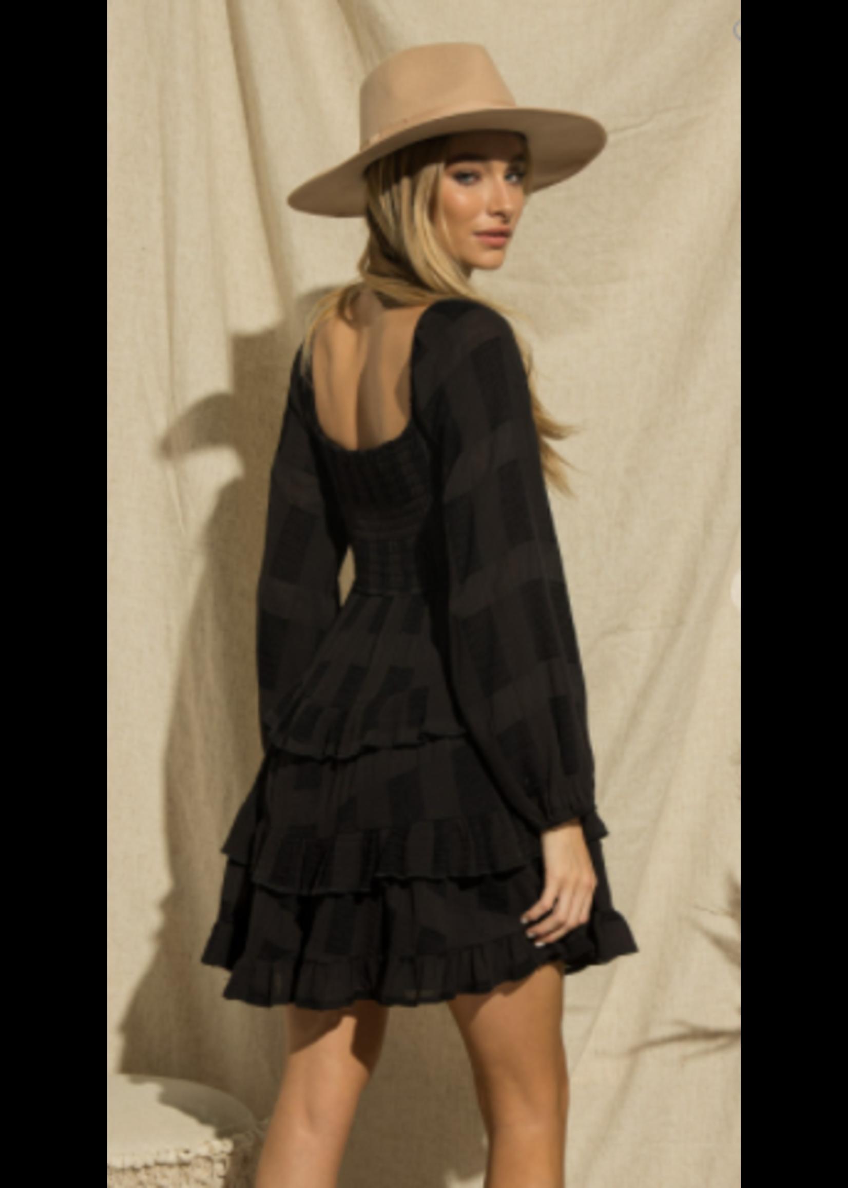 BaeVely Square Mini Dress