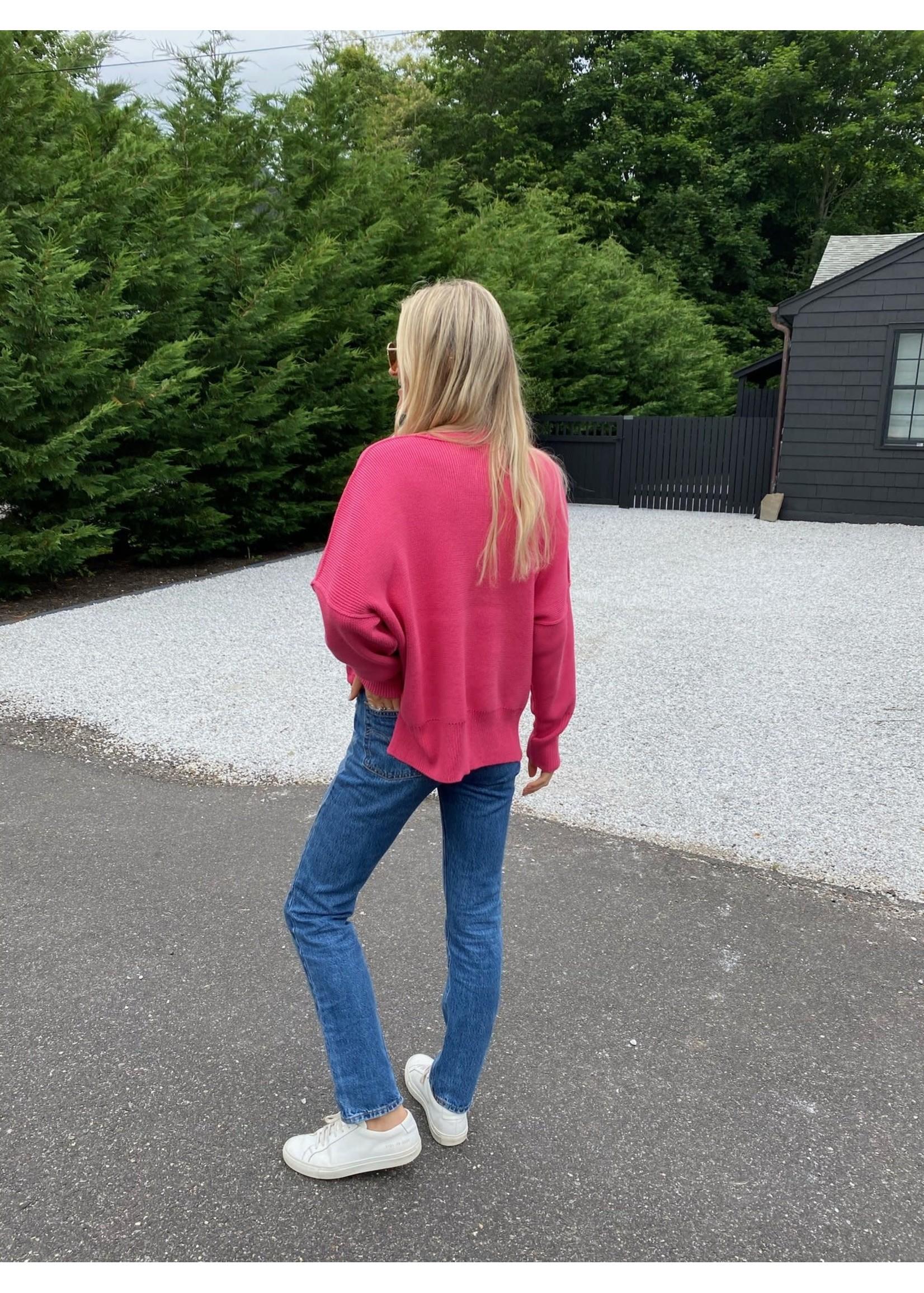 Six Fifty Fuchsia Sweater