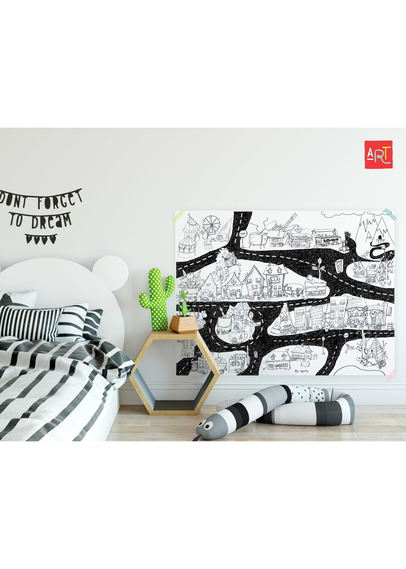 Atelier Rue Tabaga Rouleau de dessin géant Ville