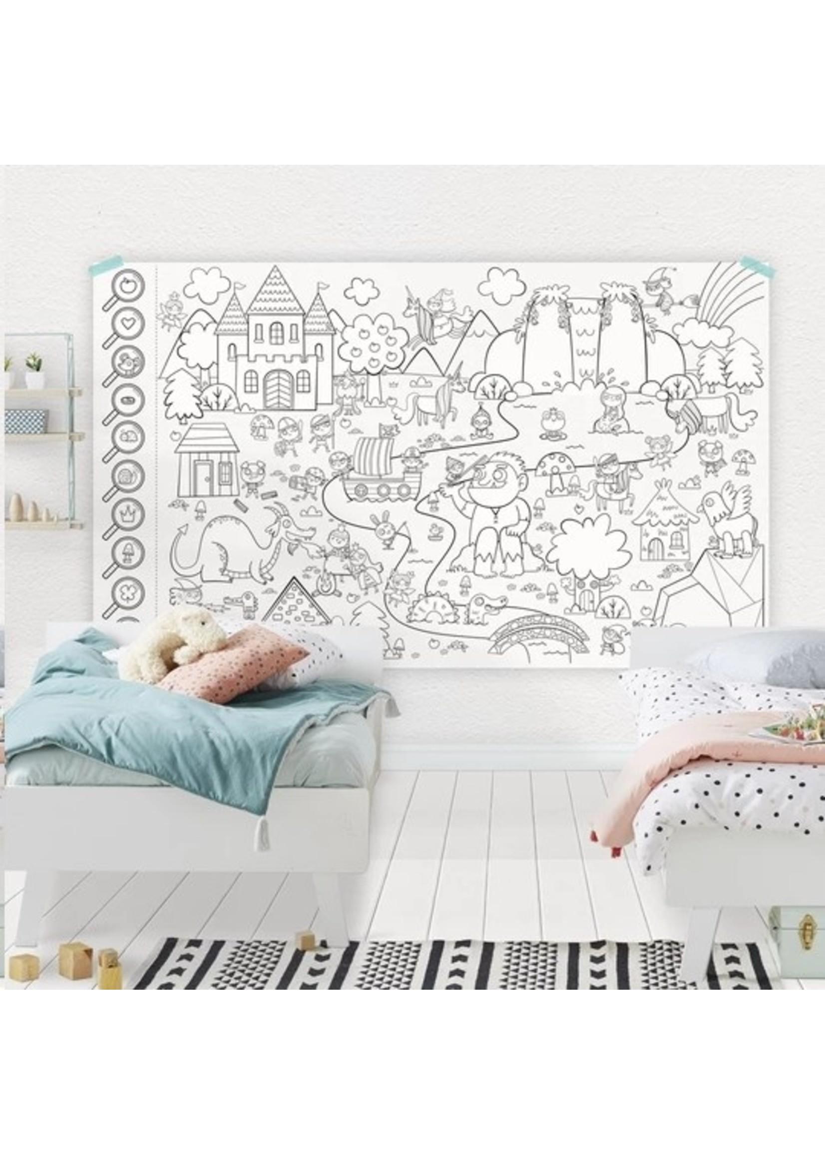 Atelier Rue Tabaga Rouleau de dessin géant Forêt enchantée