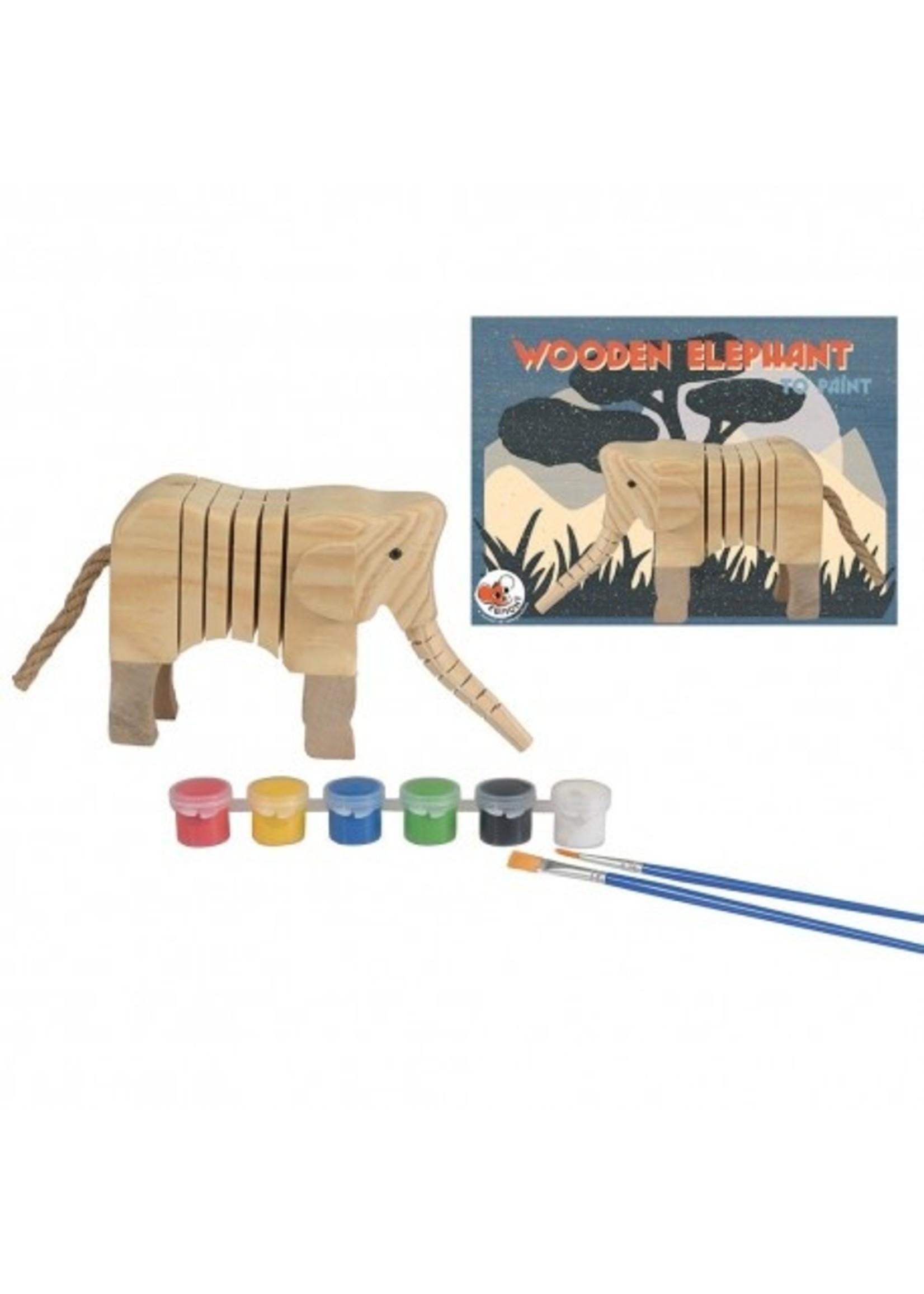 Egmont Toys Éléphant en bois a peindre