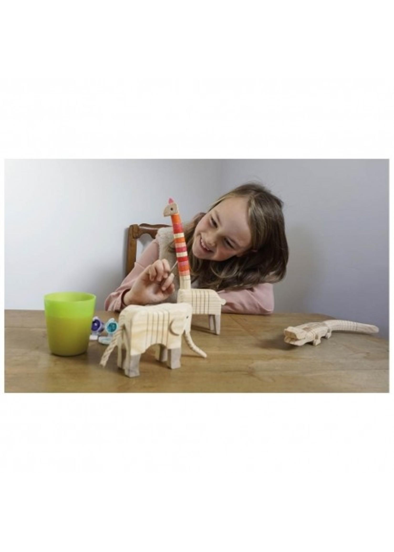 Egmont Toys Crocodile en bois a peindre