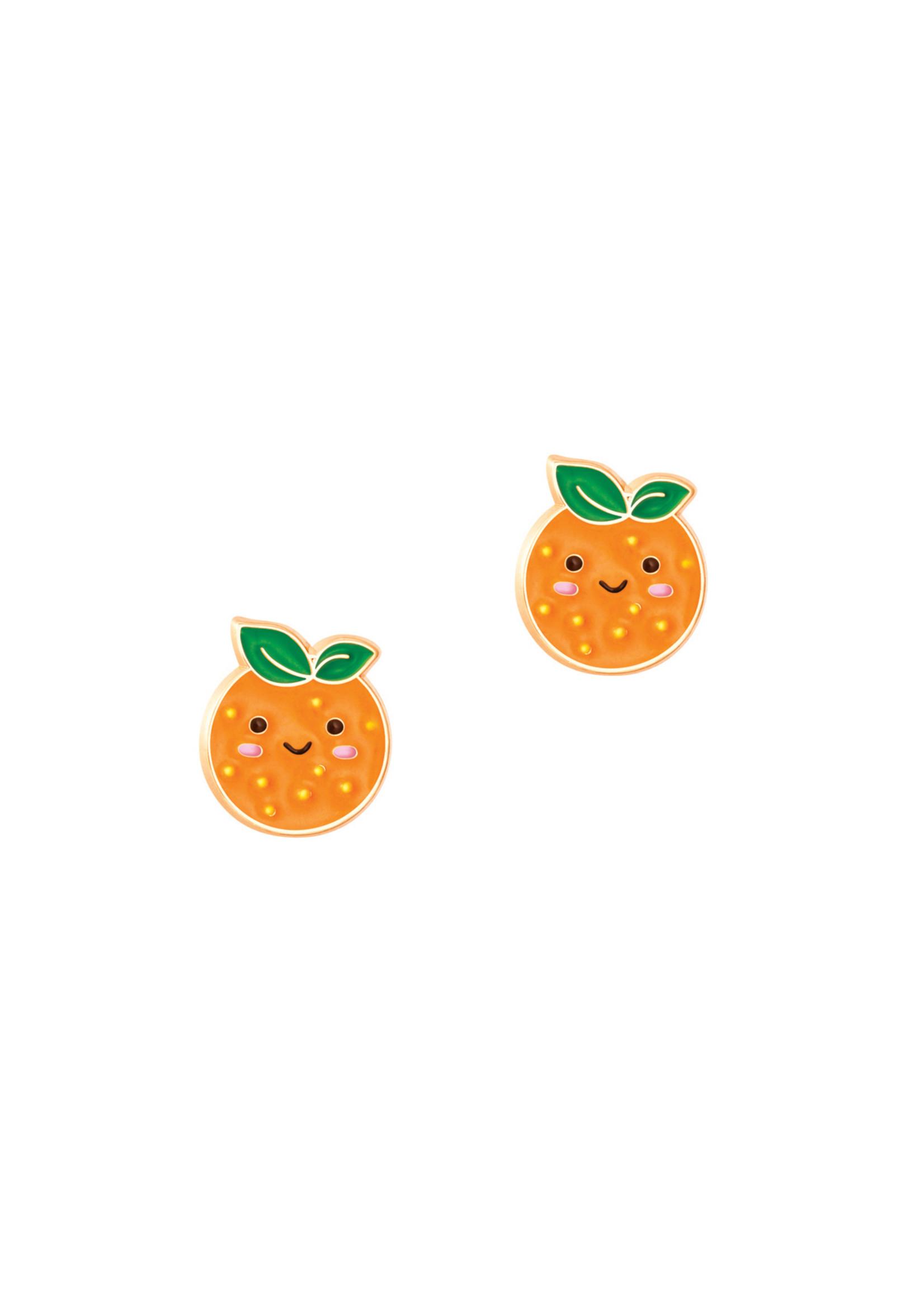 Girl Nation Boucles d'oreilles Orange