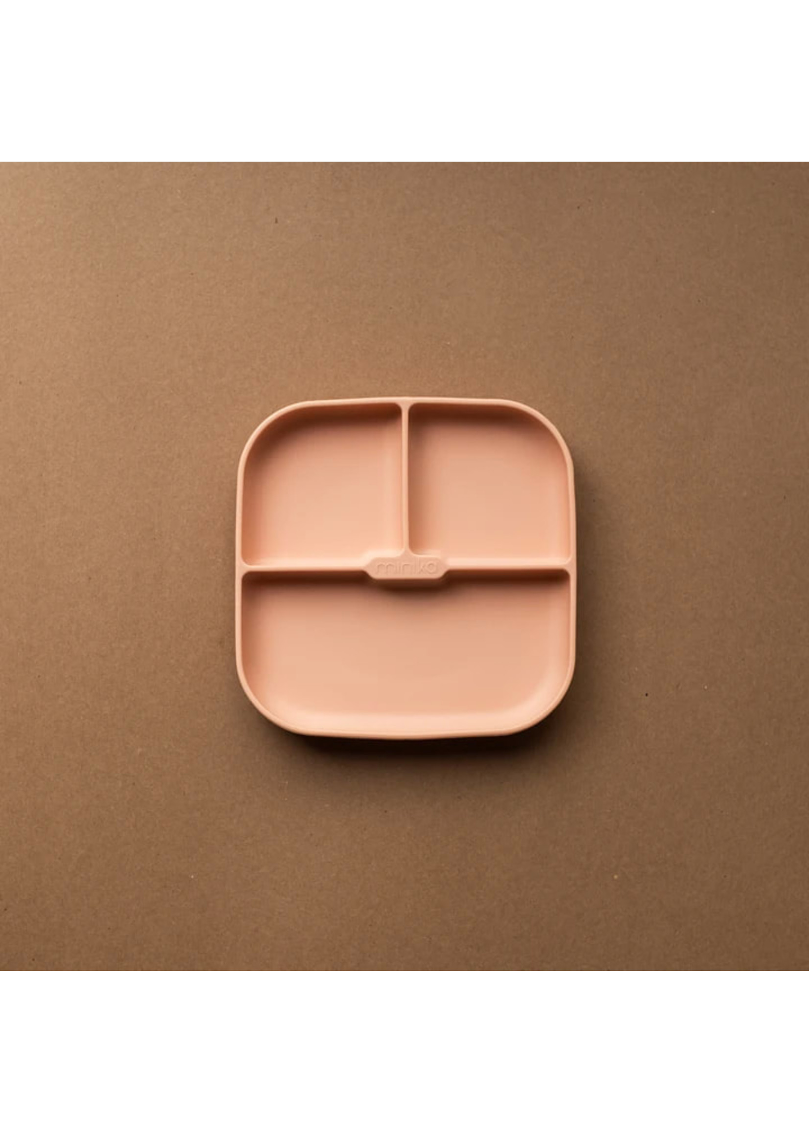 Minika Assiette de silicone Blush