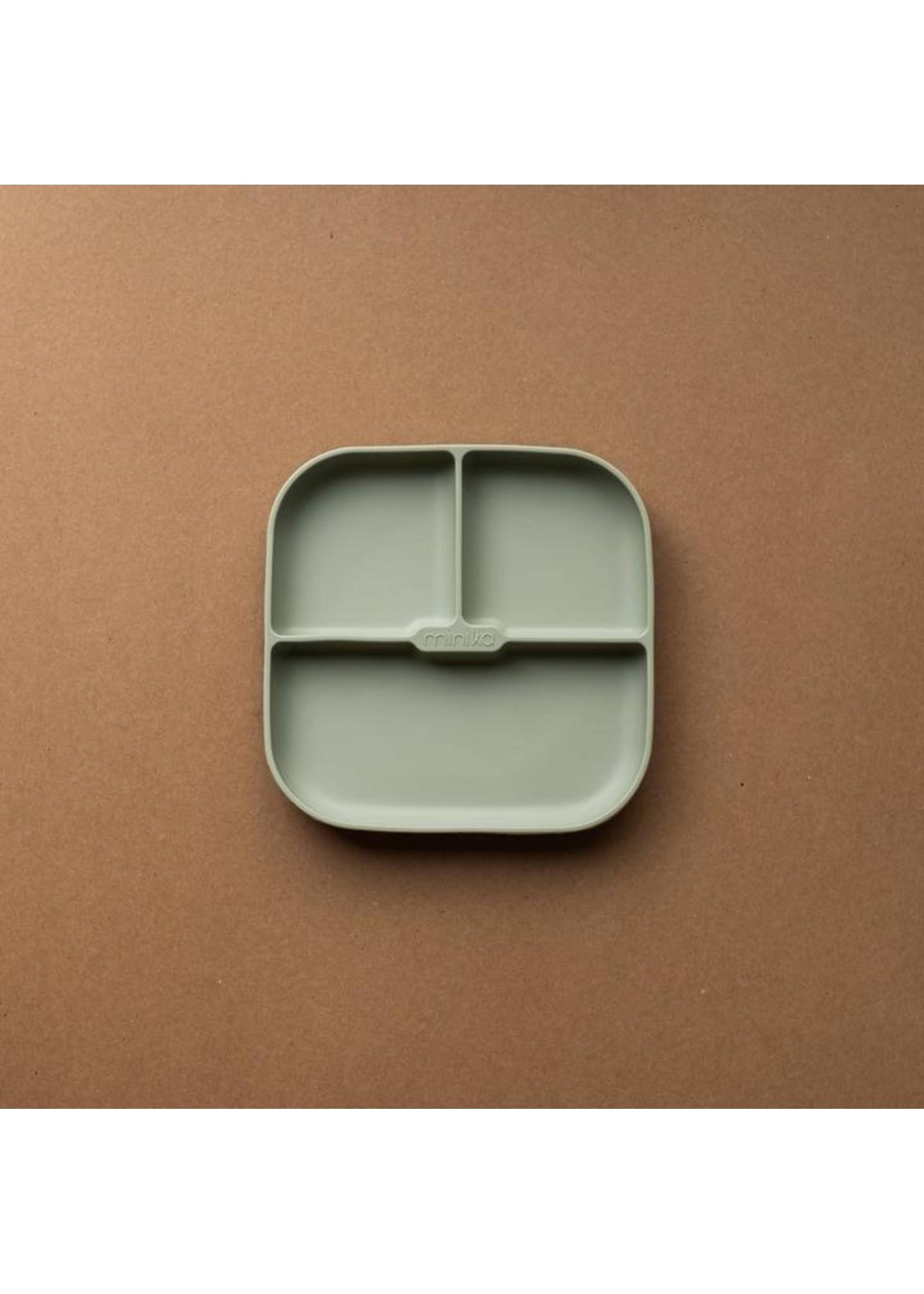 Minika Assiette de silicone Sage