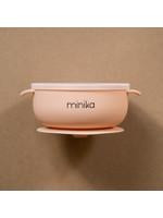 Minika Bol de silicone avec couvercle Blush