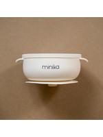 Minika Bol de silicone avec couvercle Shell