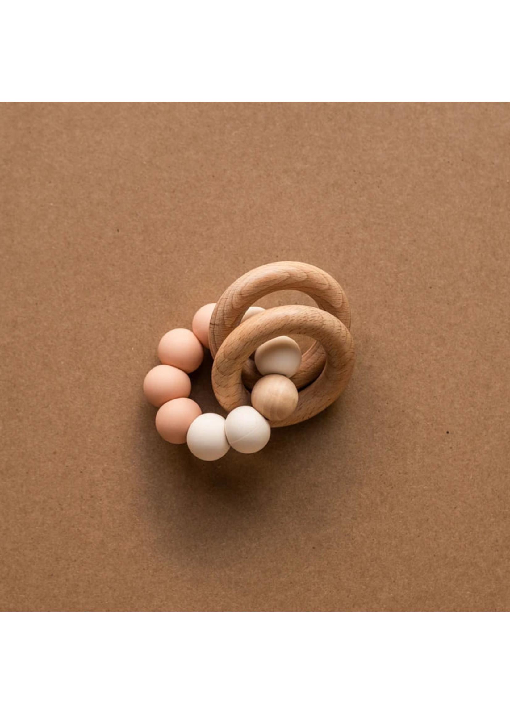 Minika Hochets de dentition avec anneaux Blush