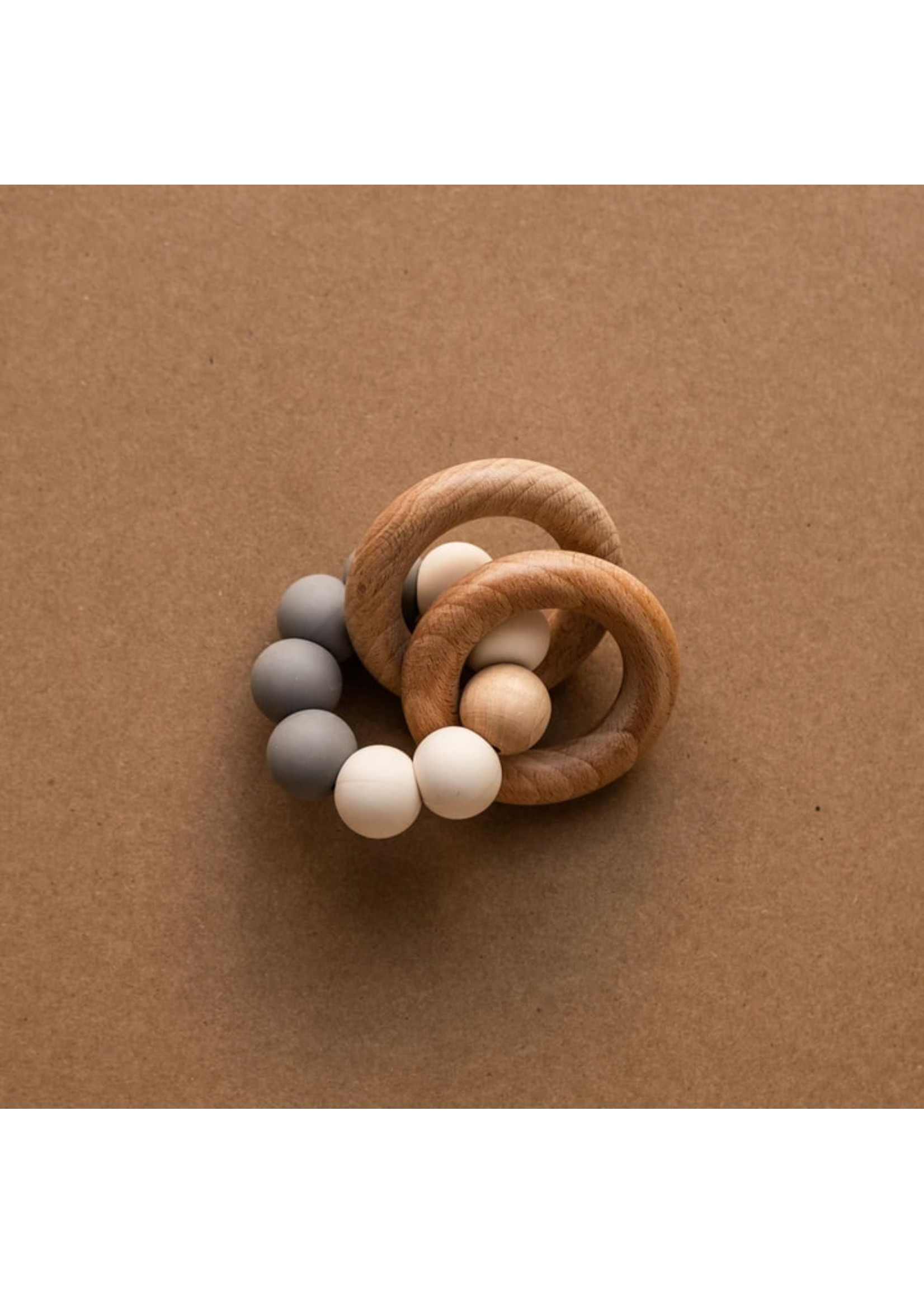 Minika Hochets de dentition avec anneaux Stone