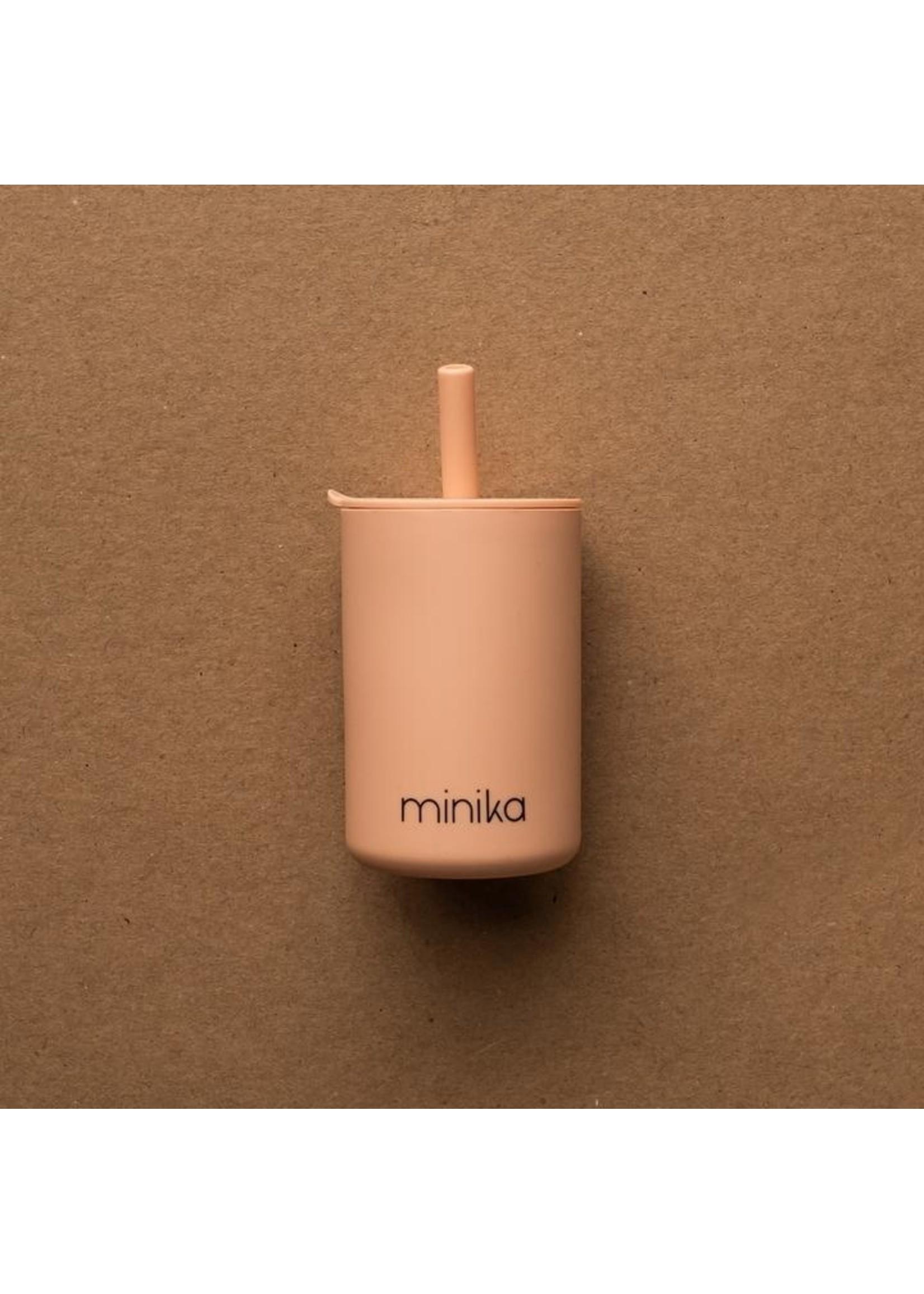 Minika Verre avec paille Blush