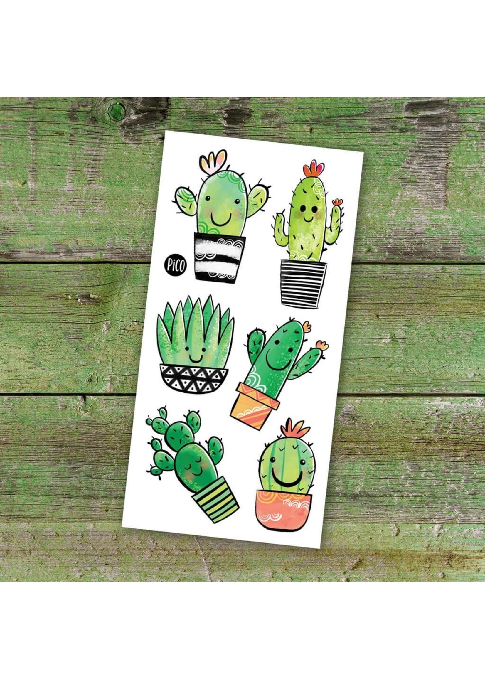 Pico Tatouages temporaires Les cactus coquins