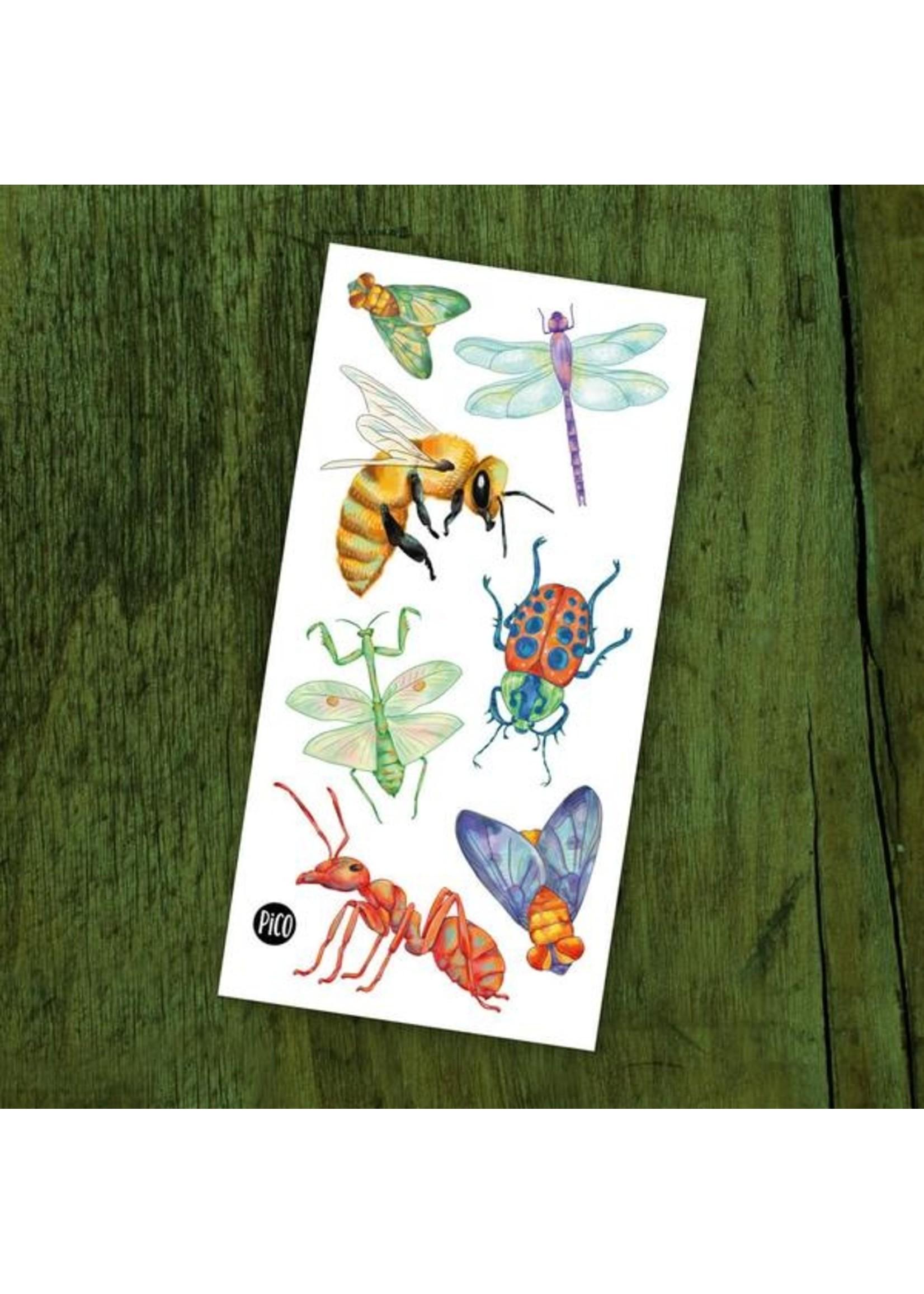Pico Tatouages temporaires Les insectes